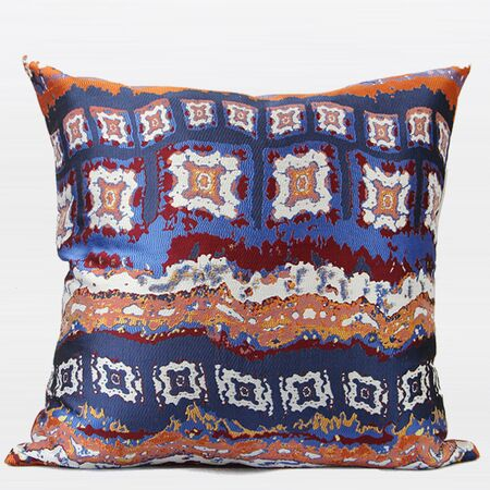 Luxury Tribe Jacquard Throw Pillow Color: Tangerine