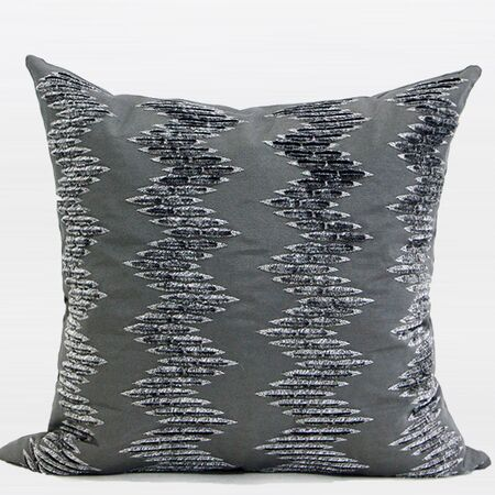 Luxury Textured Embroidered Throw Pillow