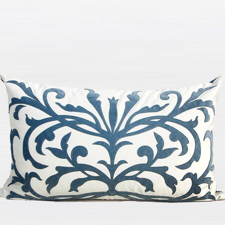 European Pattern Embroidered Lumbar Pillow