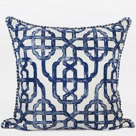 Classic Geometry Pattern with Tassels Throw Pillow