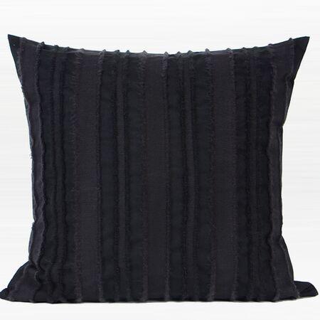 Luxury Stripe Textured 100% Cotton Throw Pillow