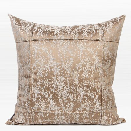 Luxury Abstract Pattern Frame Jacquard Down Feather Insert Throw Pillow Color: Champagne Gold