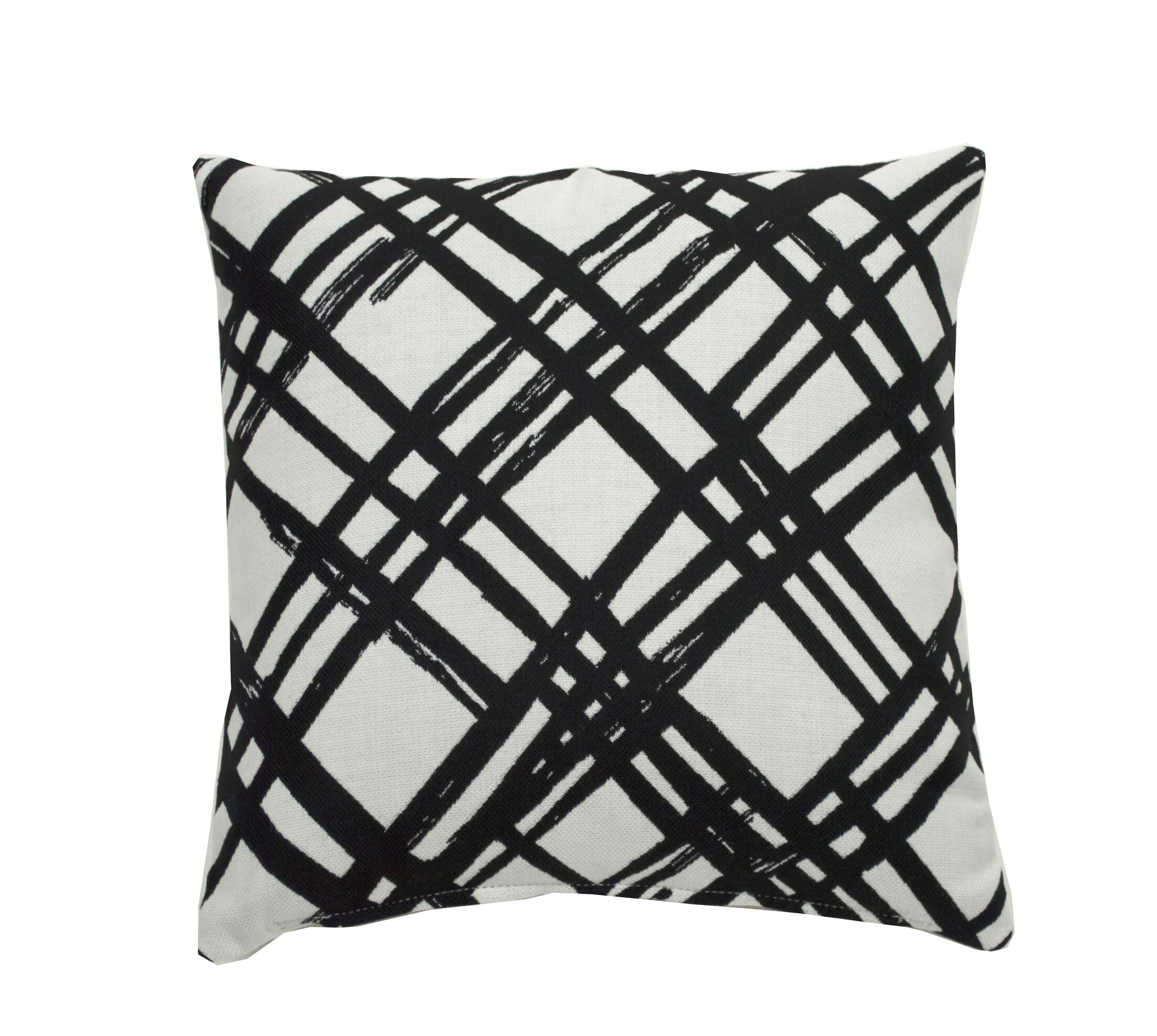 Slash Indoor/Outdoor Throw Pillow (Set of 2) Color: Midnight, Size: 24