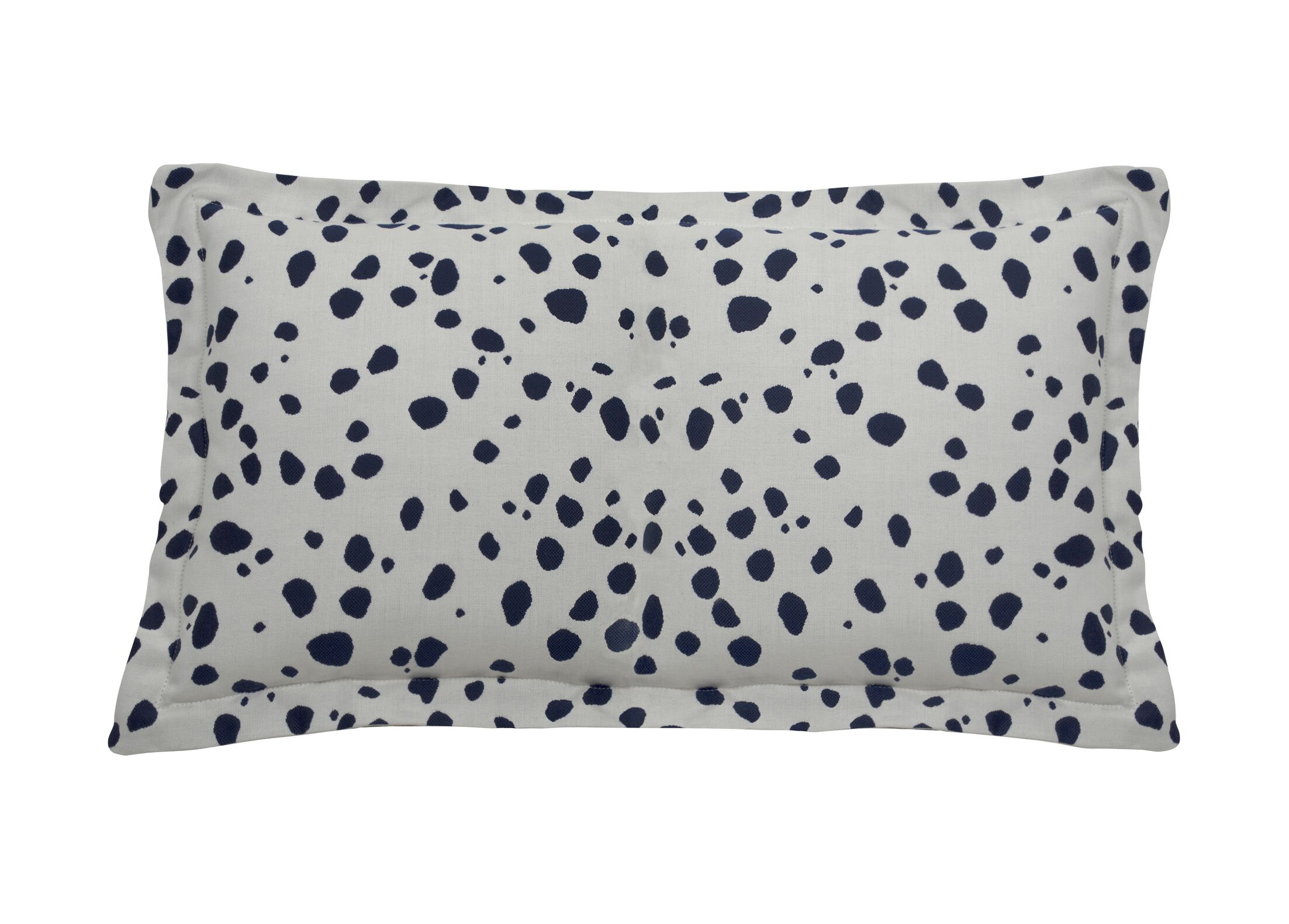 Spotty Indoor/Outdoor Lumbar Pillow (Set of 2) Color: Indigo