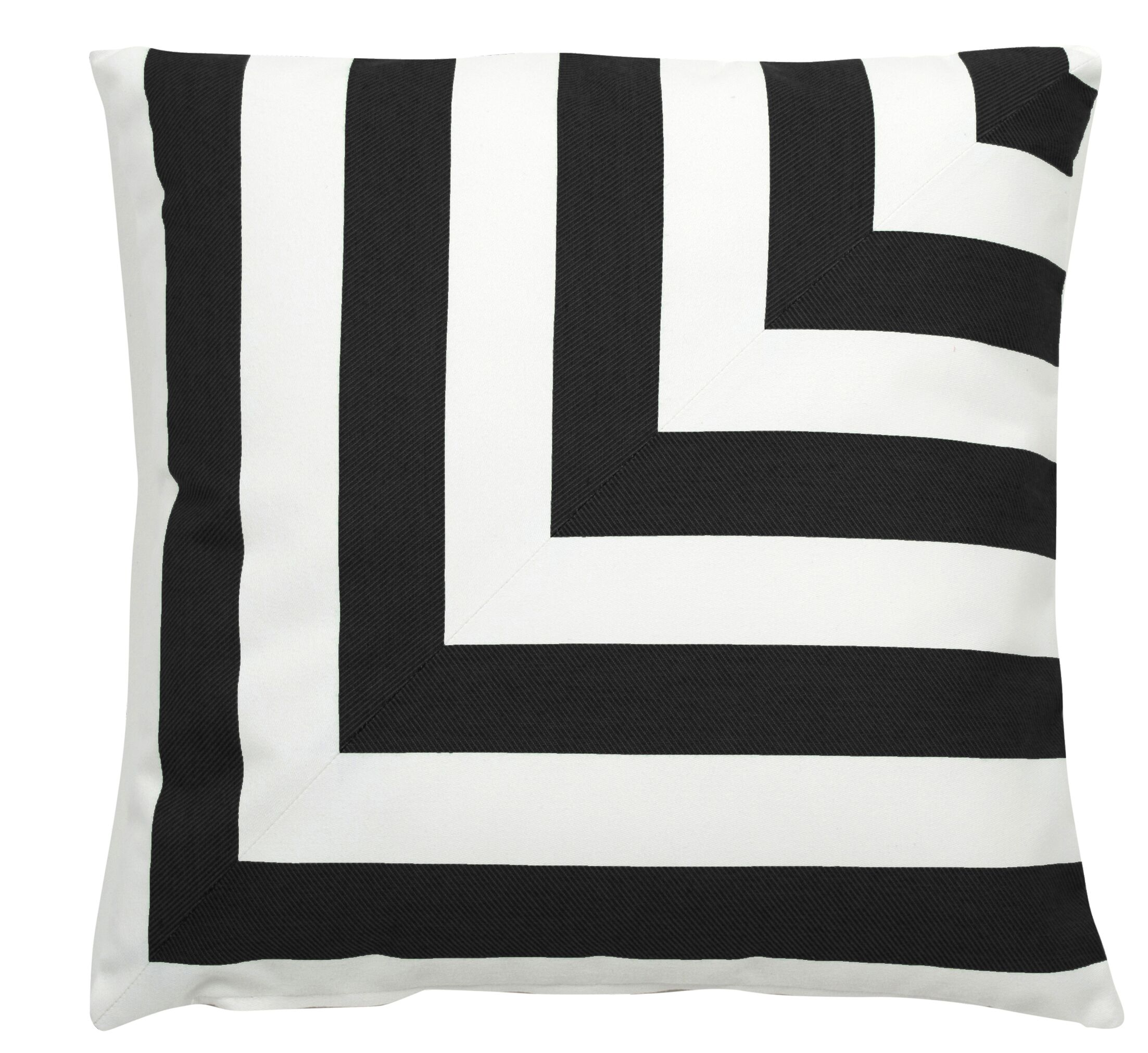 Halo Indoor/Outdoor Throw Pillow (Set of 2) Color: Midnight, Size: 24