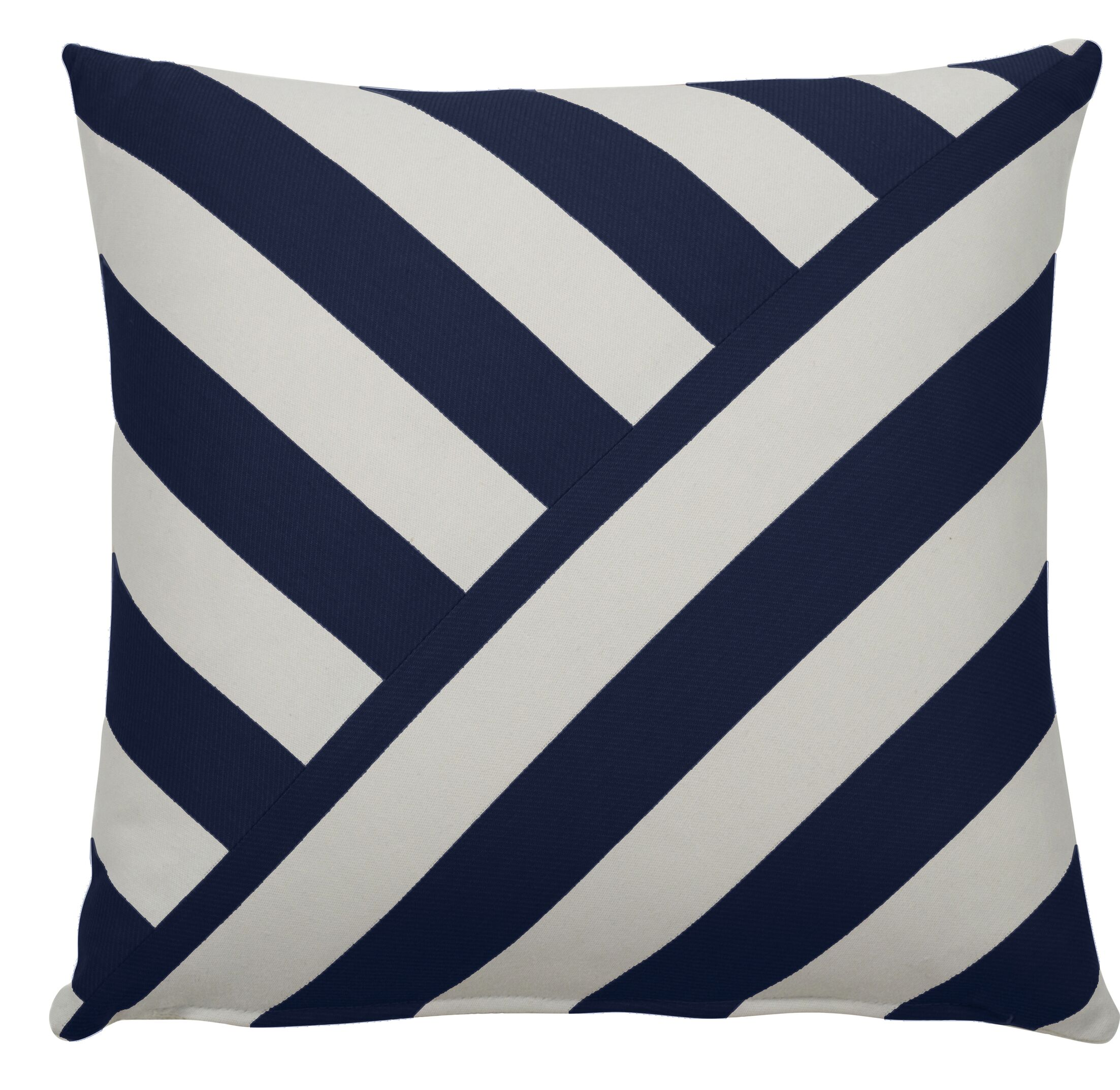 Halo Indoor/Outdoor Throw Pillow (Set of 2) Color: Indigo, Size: 24