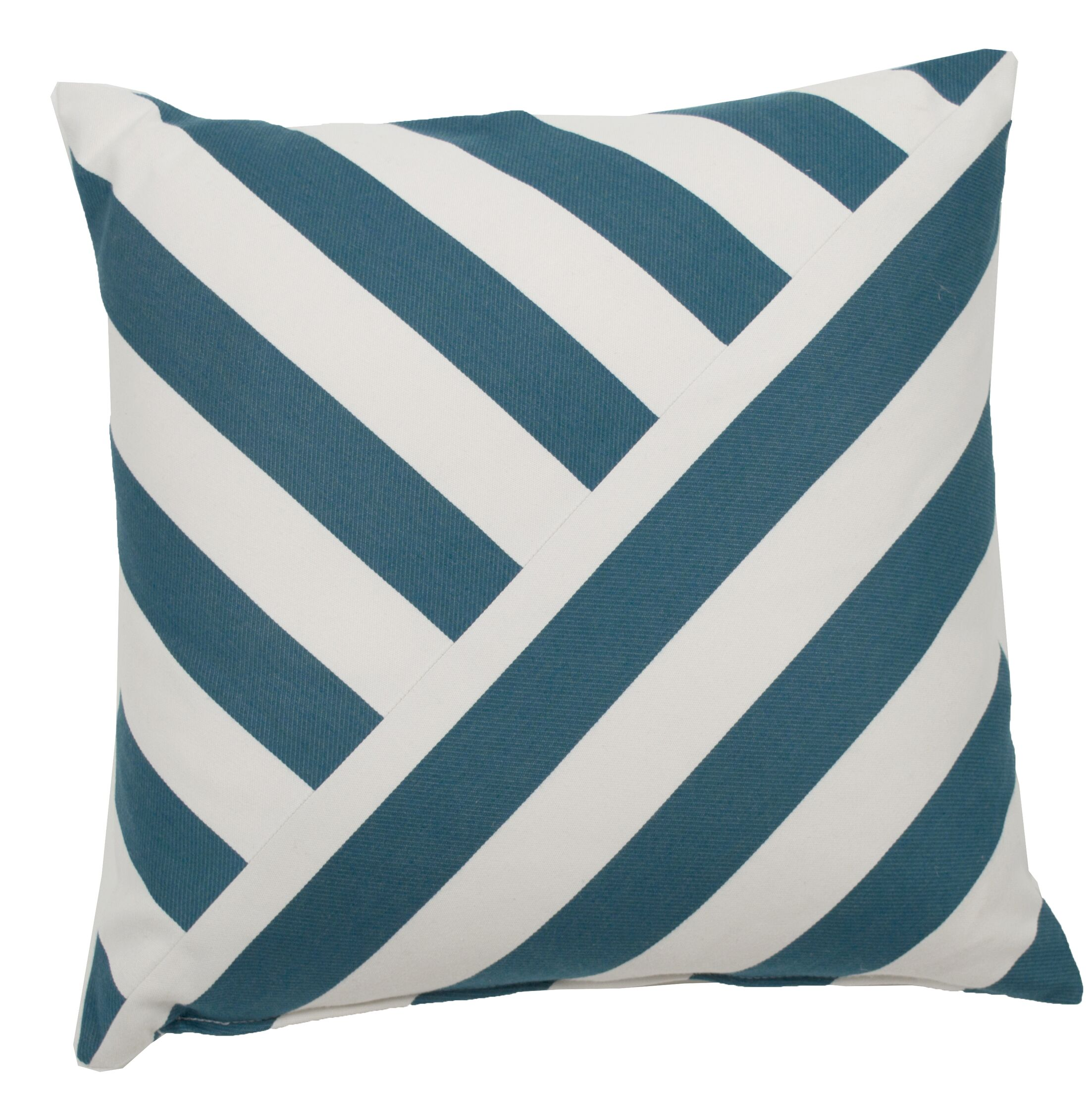 Halo Indoor/Outdoor Throw Pillow (Set of 2) Color: Peacock, Size: 24