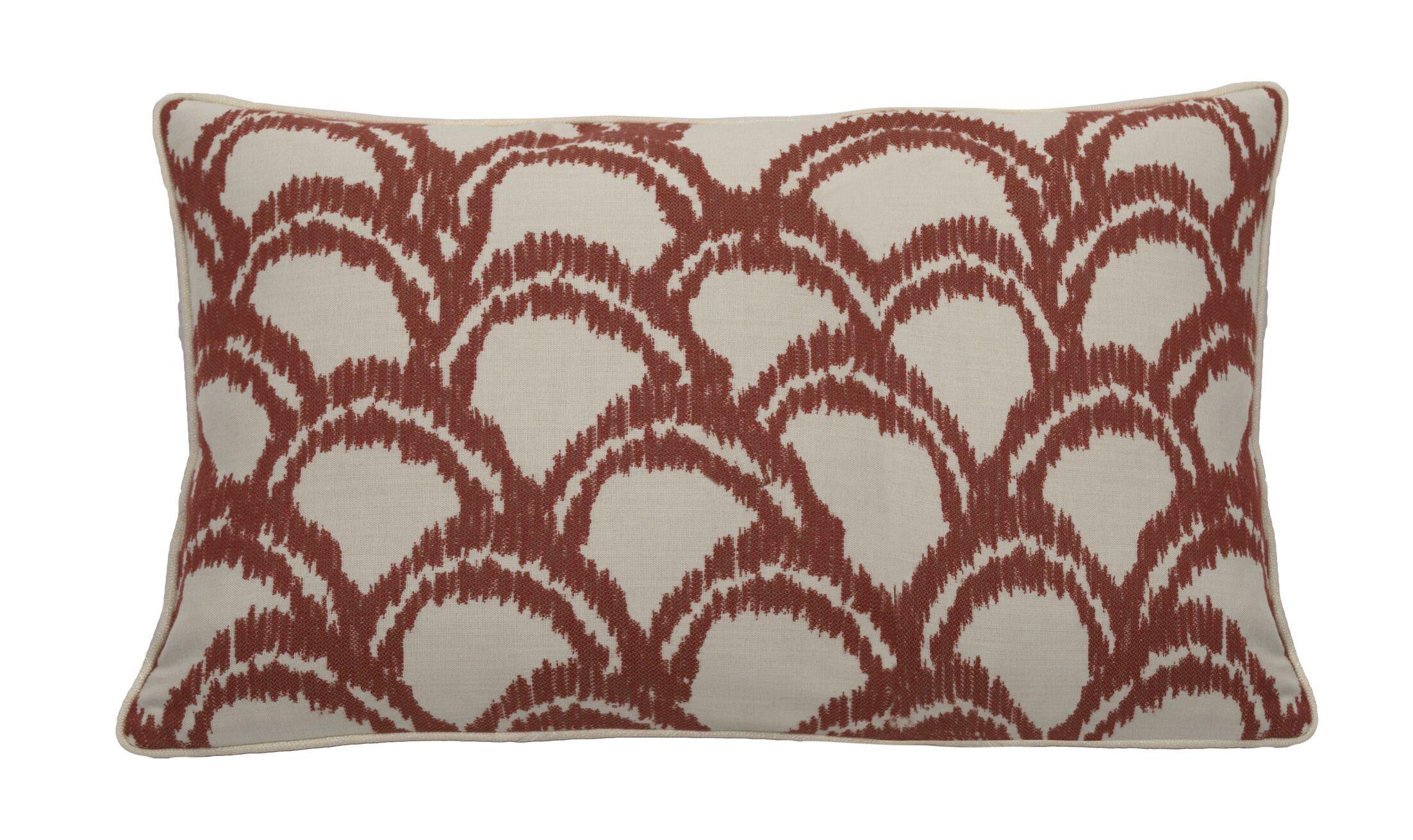 Alena Indoor/Outdoor Lumbar Pillow (Set of 2) Color: Cajun