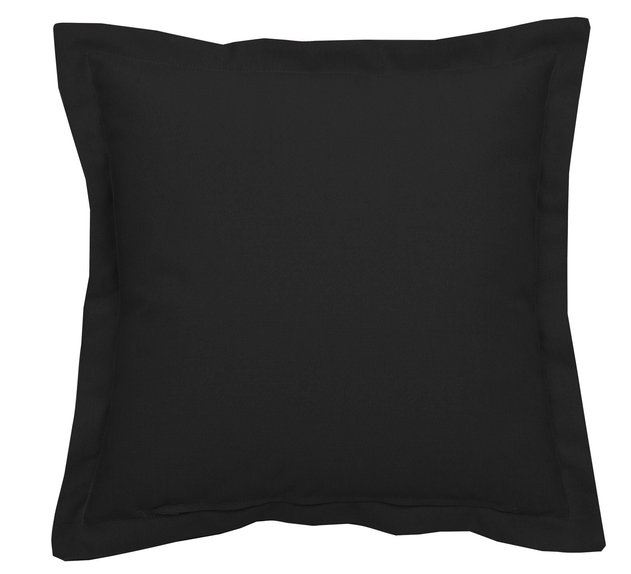 Linen Indoor/Outdoor Lumbar Pillow (Set of 2) Color: Snow