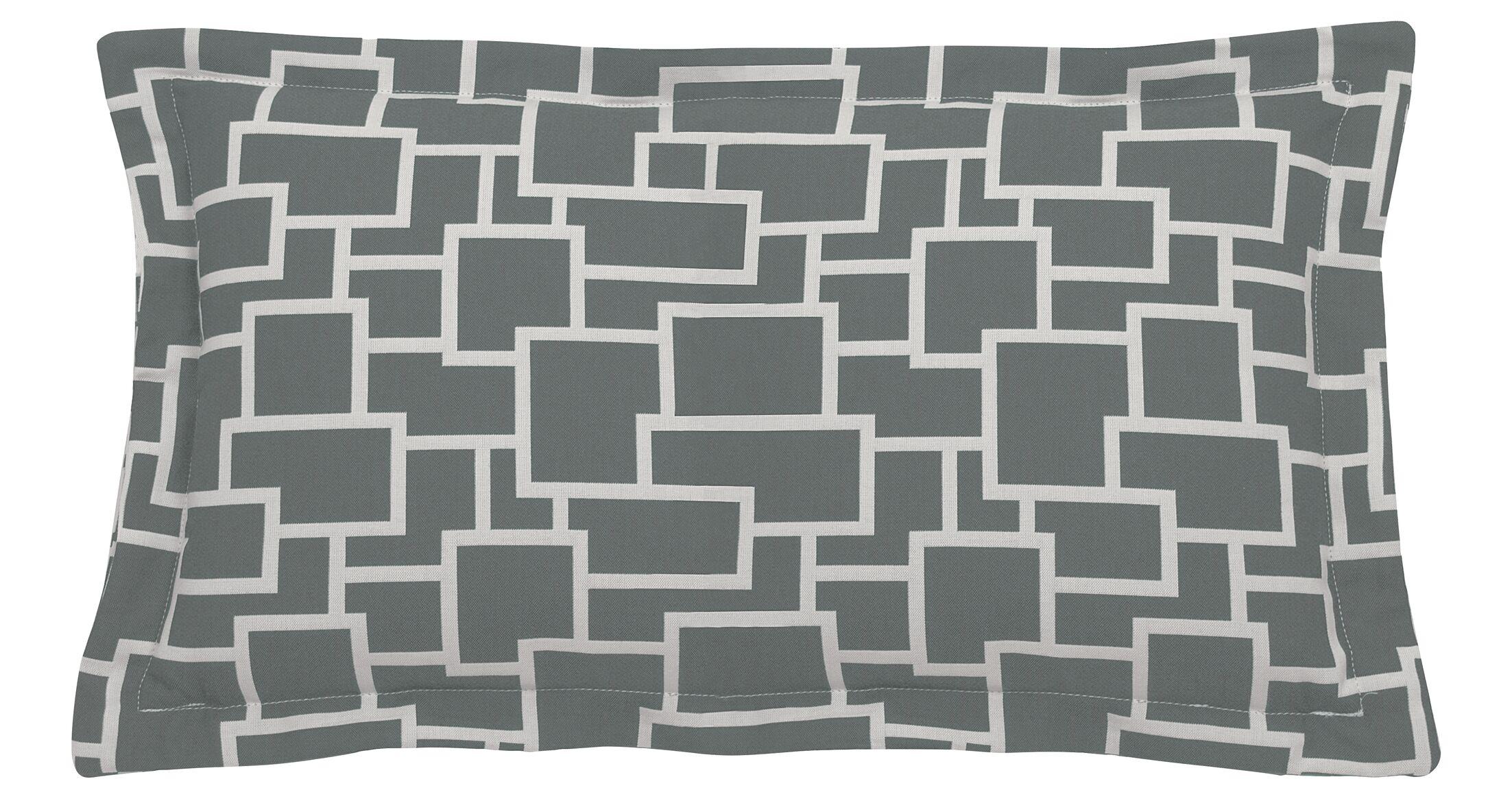 Magnitude Indoor/Outdoor Lumbar Pillow (Set of 2) Color: Mist