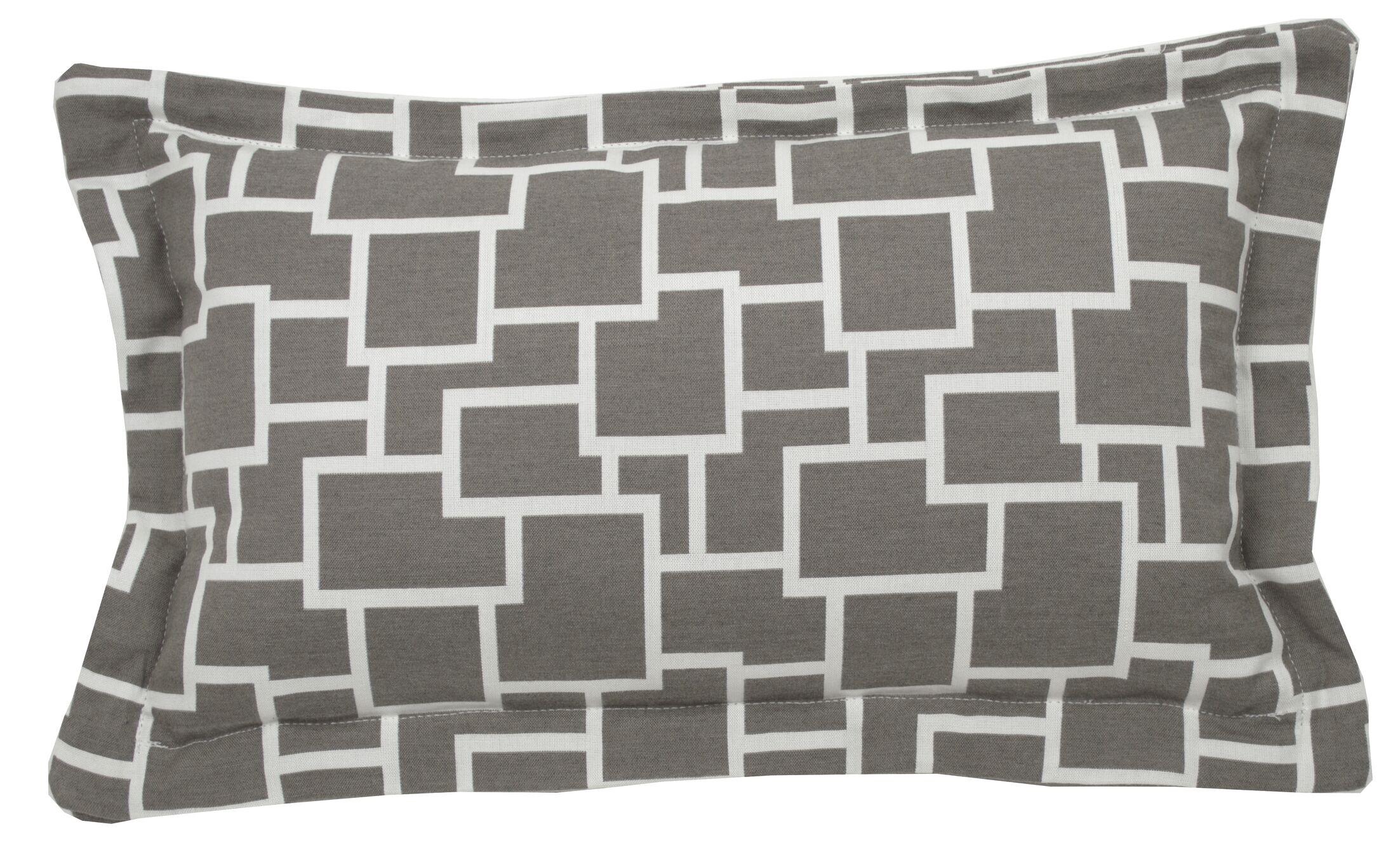 Magnitude Indoor/Outdoor Lumbar Pillow (Set of 2) Color: Stone