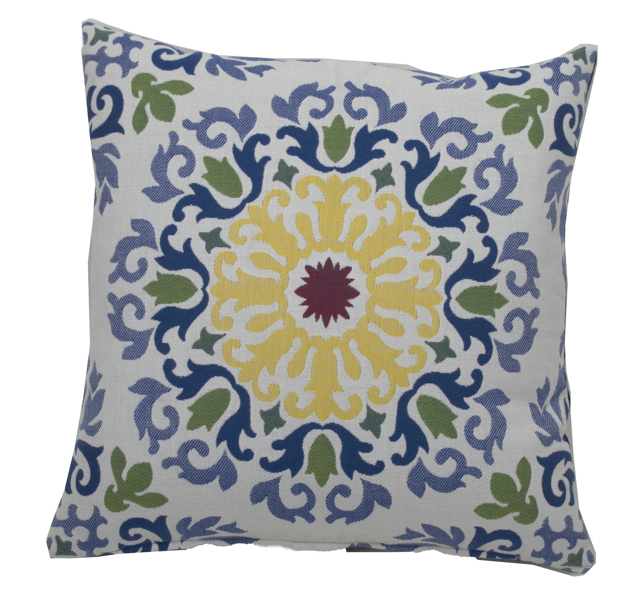 Molto Medallion Indoor/Outdoor Throw Pillow (Set of 2) Size: 20