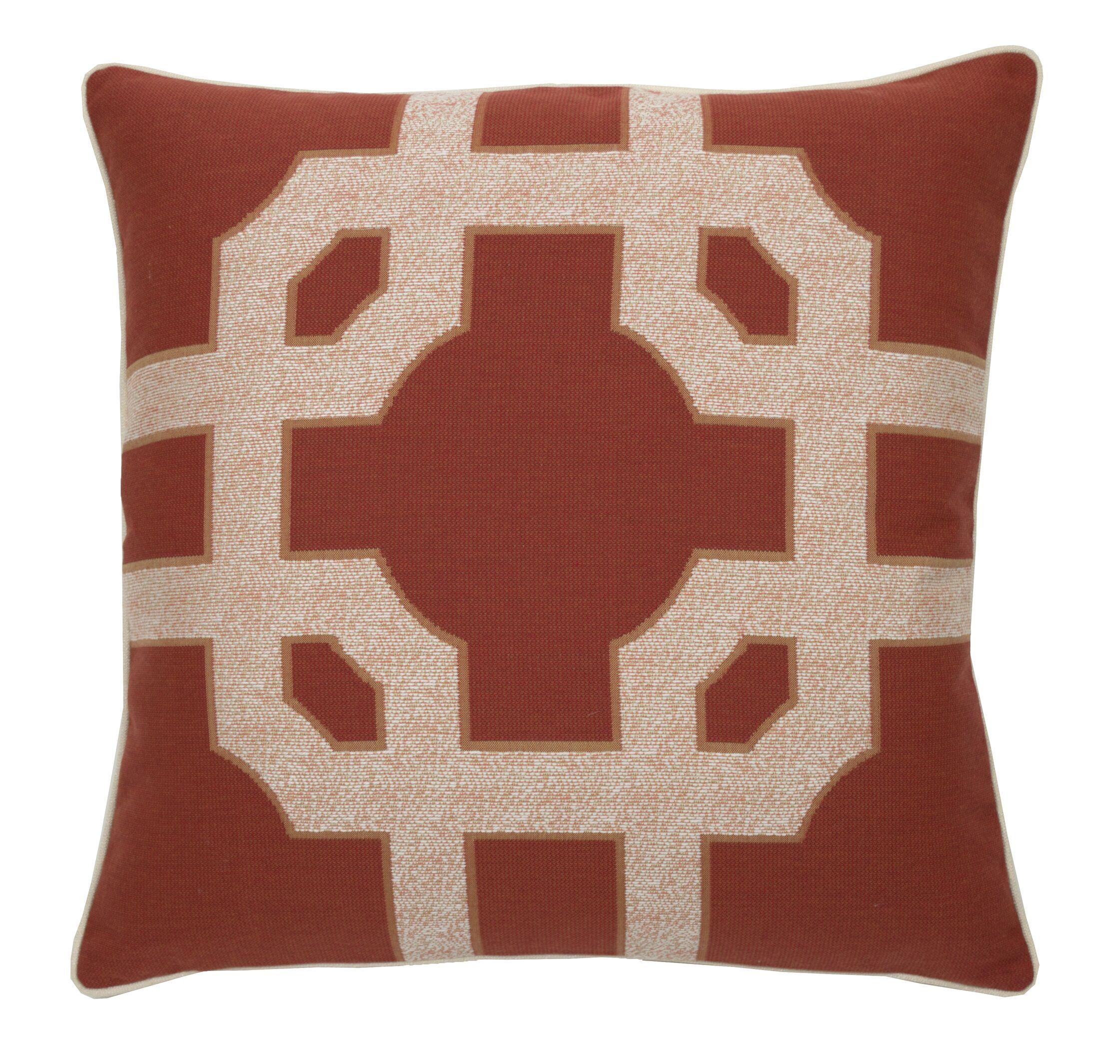 Fortune Indoor/Outdoor Throw Pillow (Set of 2) Color: Cajun, Size: 20