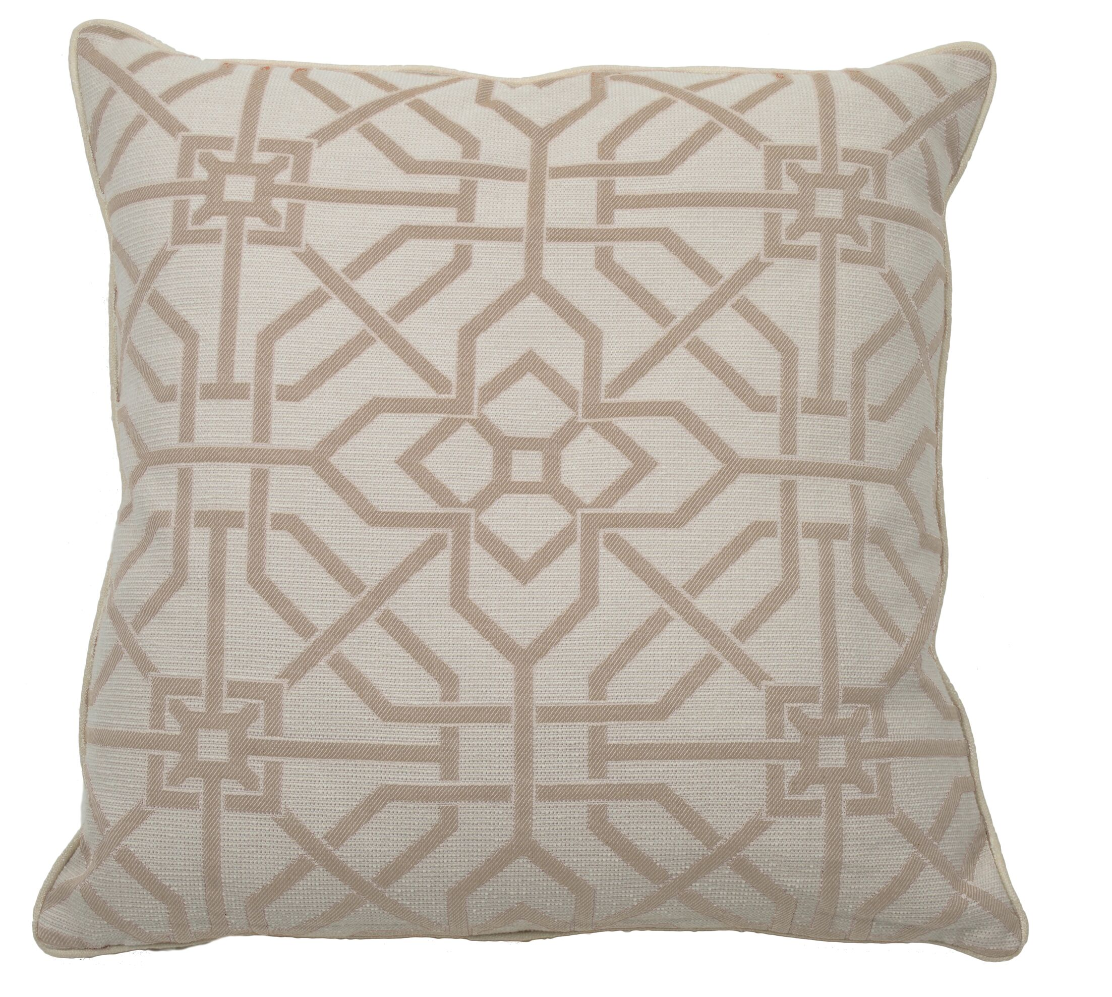 Port Palace Indoor/Outdoor Throw Pillow (Set of 2) Color: Almond, Size: 22