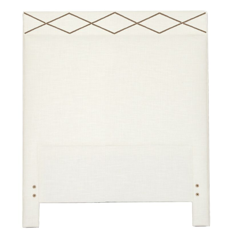 Thayer Upholstered Panel Headboard Size: Twin, Upholstery: Zulu Vanilla