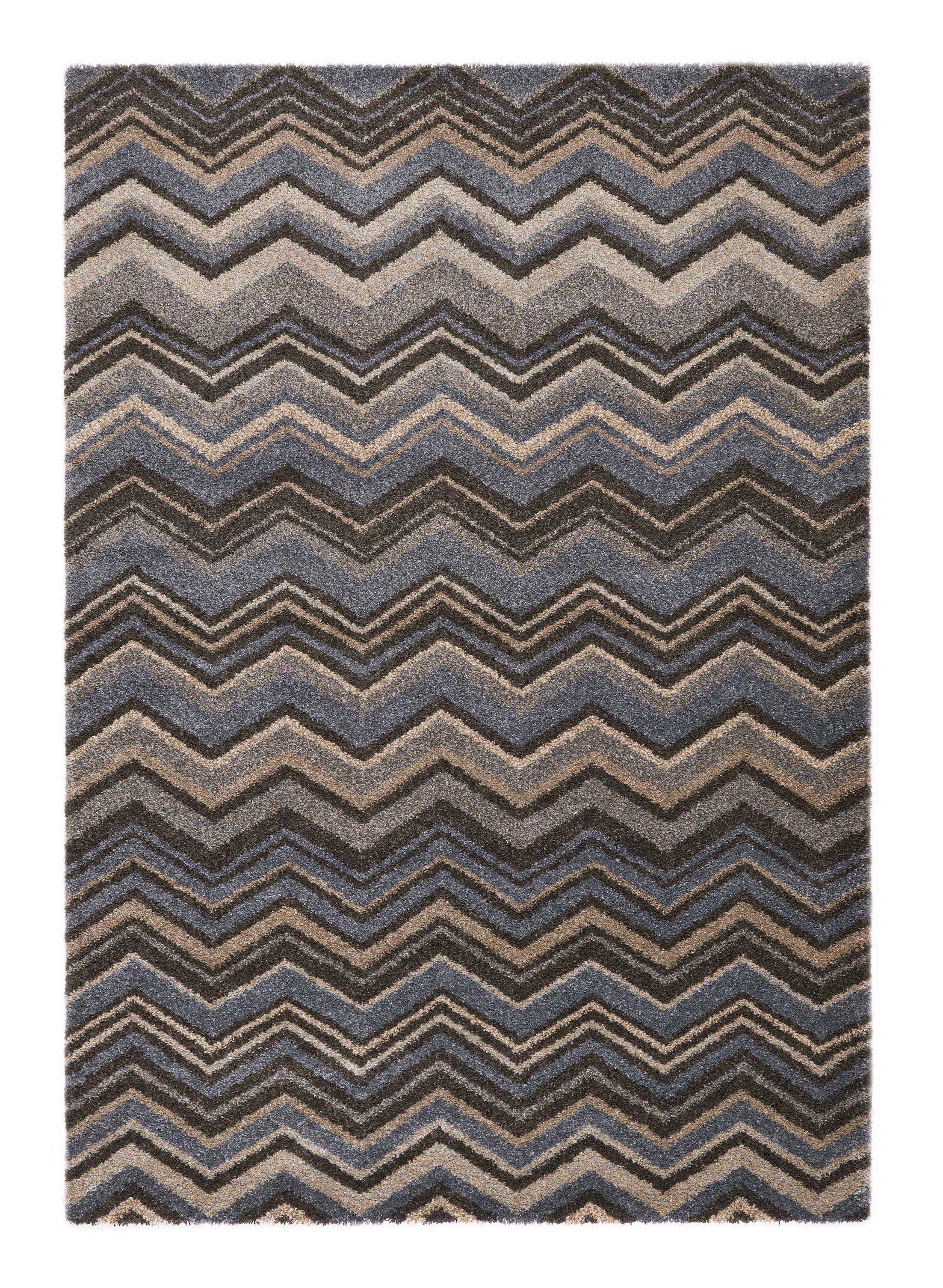 Portland Gray/Blue Area Rug Rug Size: 6'7