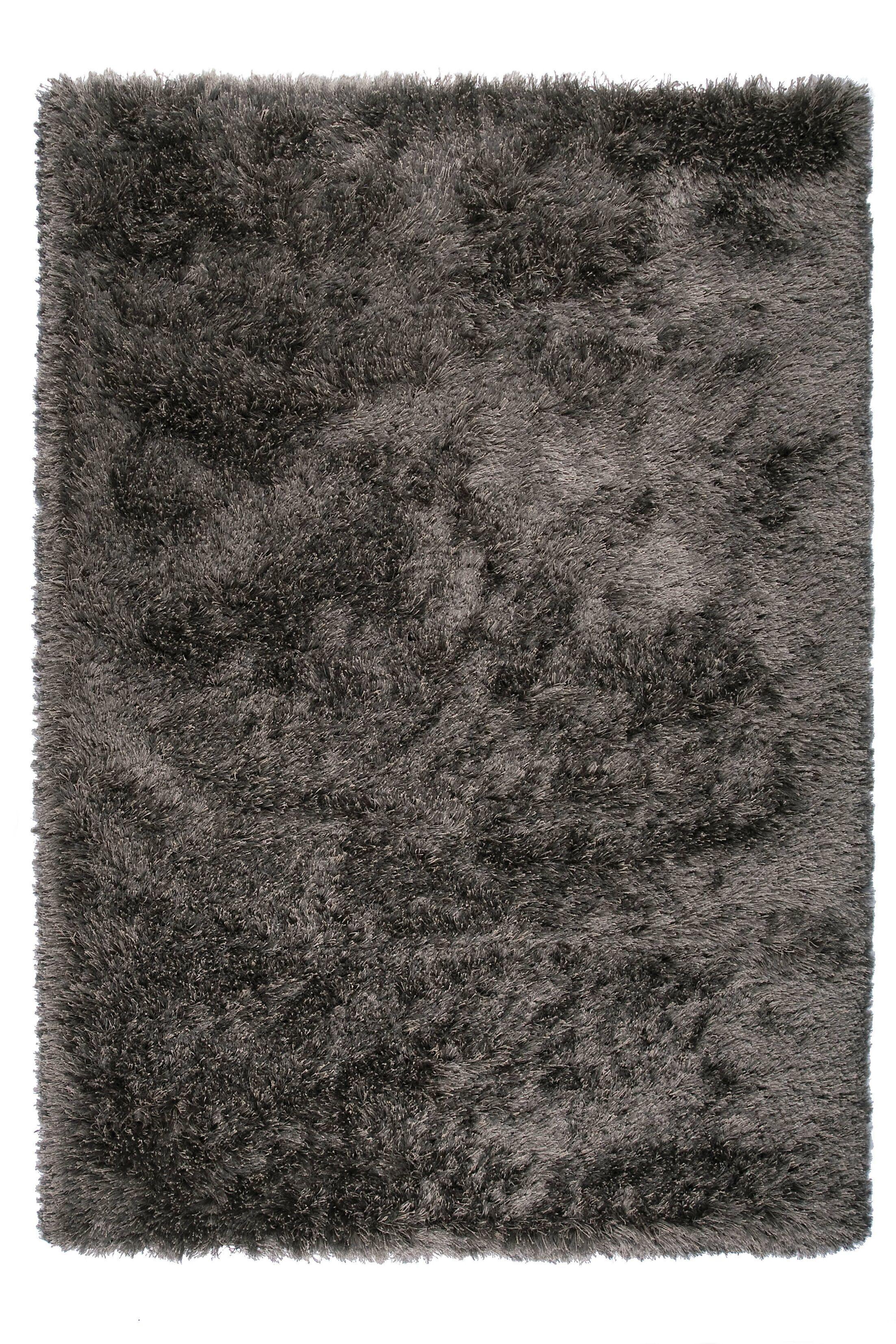 Silk Gray Area Rug Rug Size: 7'10