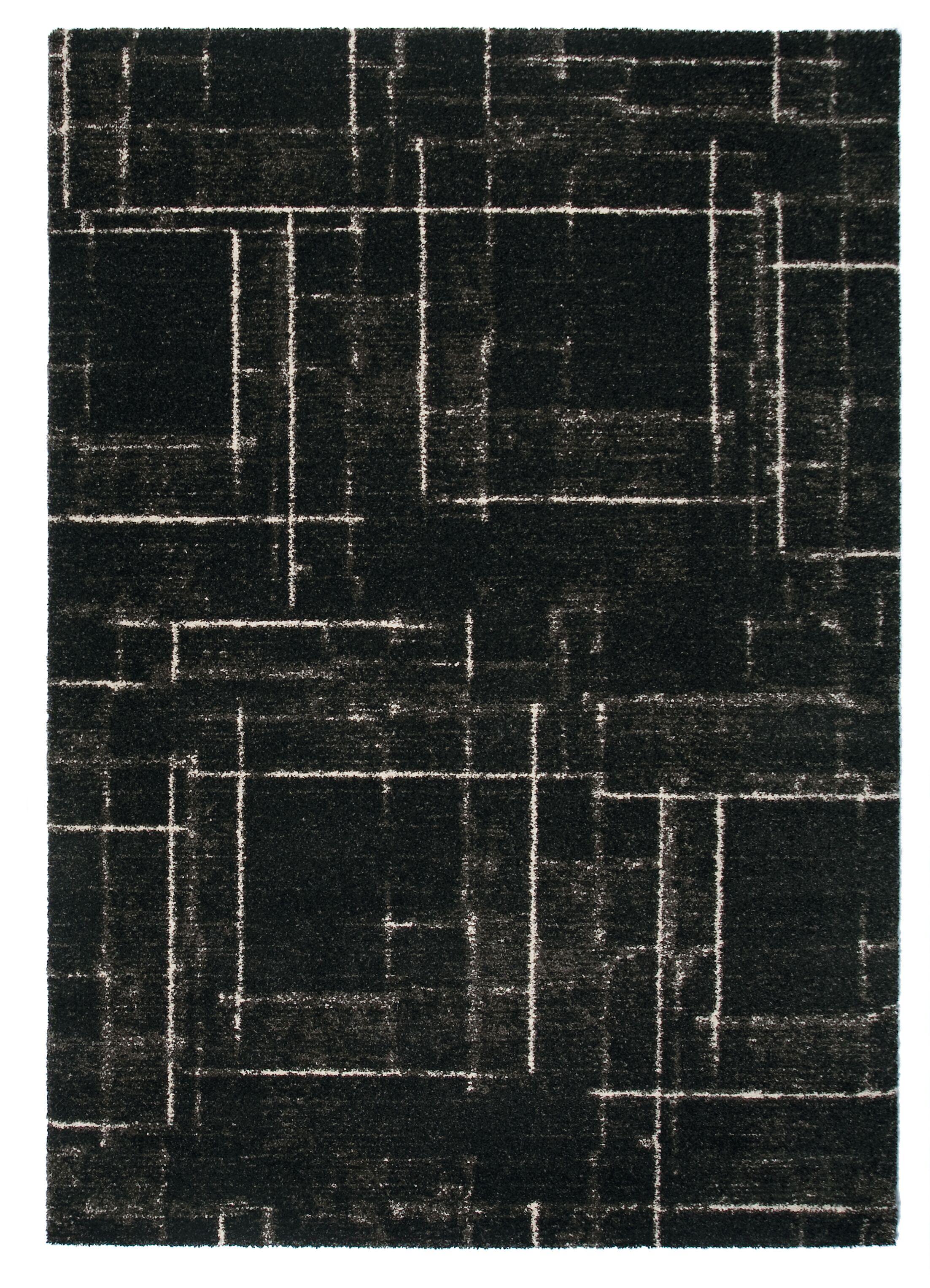 Market Black Area Rug Rug Size: 7'10
