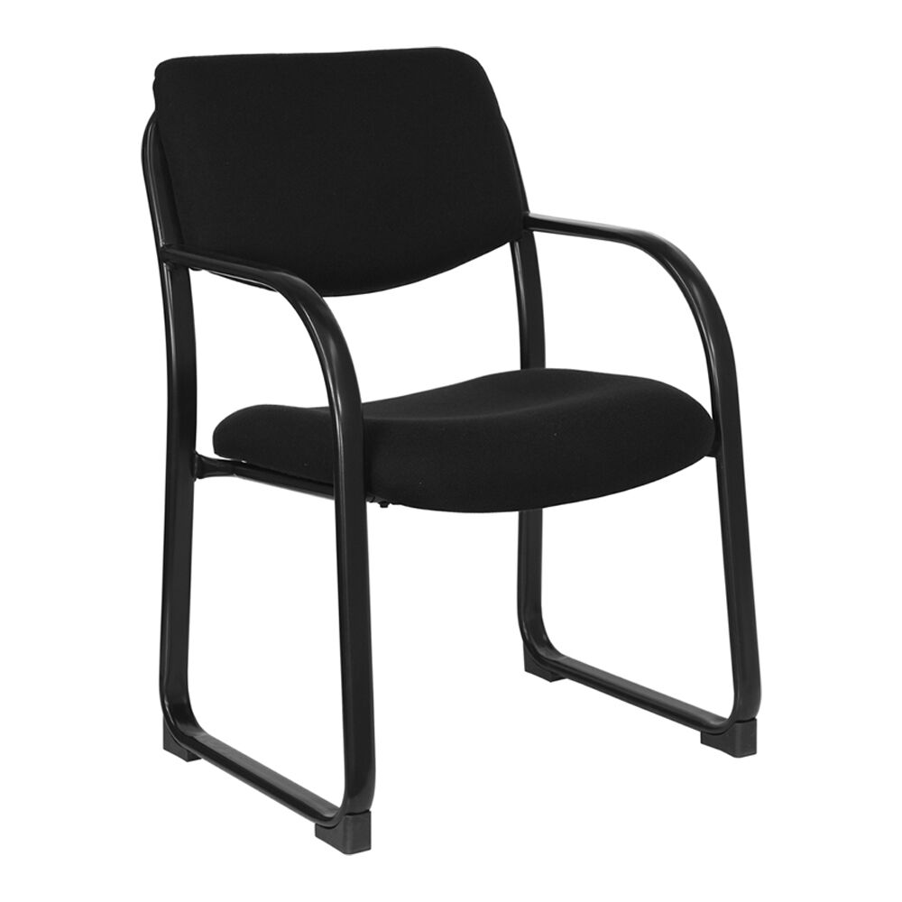 Executive Reception Guest Chair Seat Color: Black