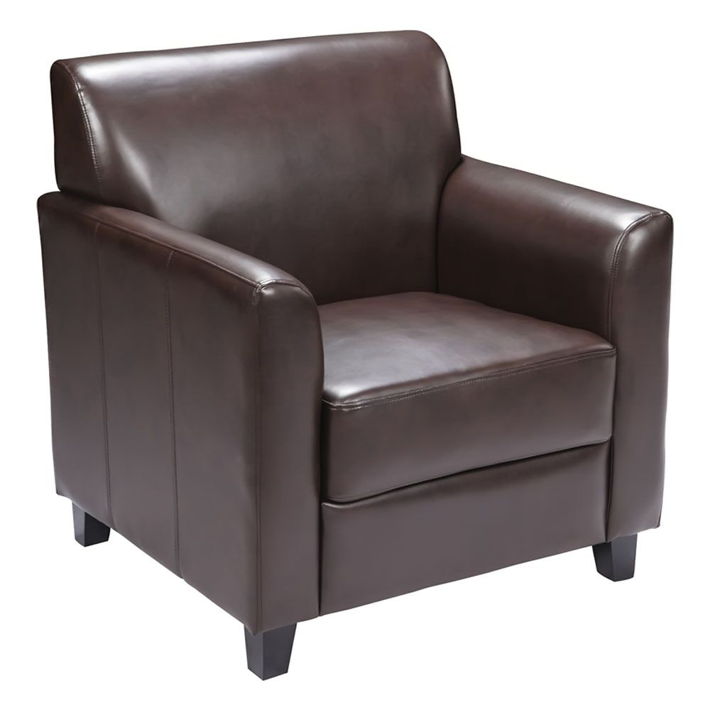 Ash Lounge Chair Seat Color: Brown