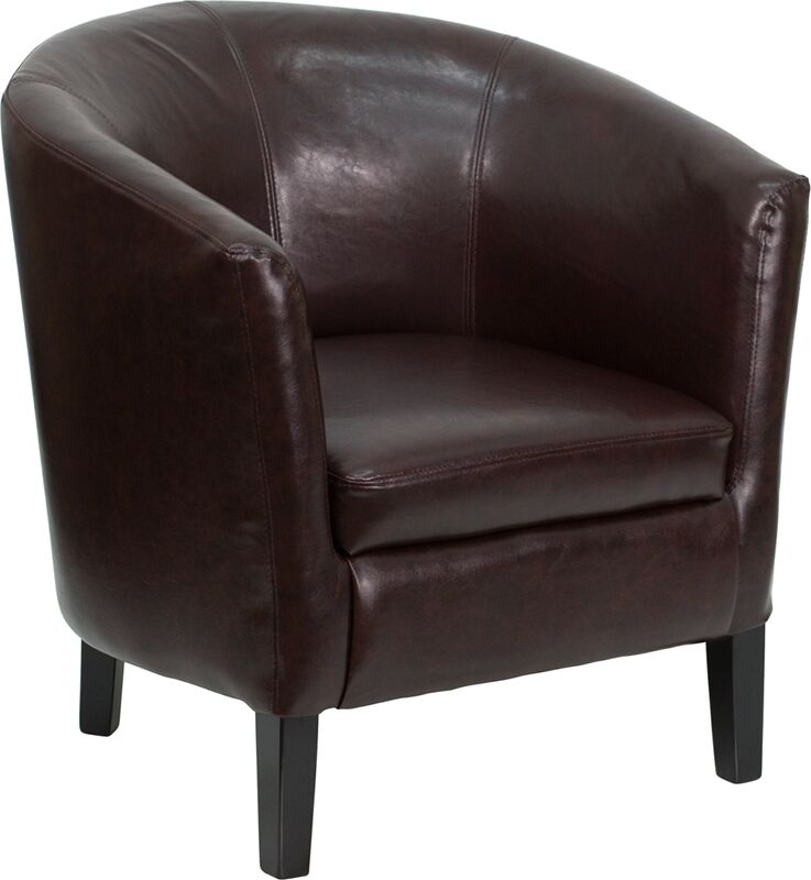 Leather Guest Chair Seat Color: Brown