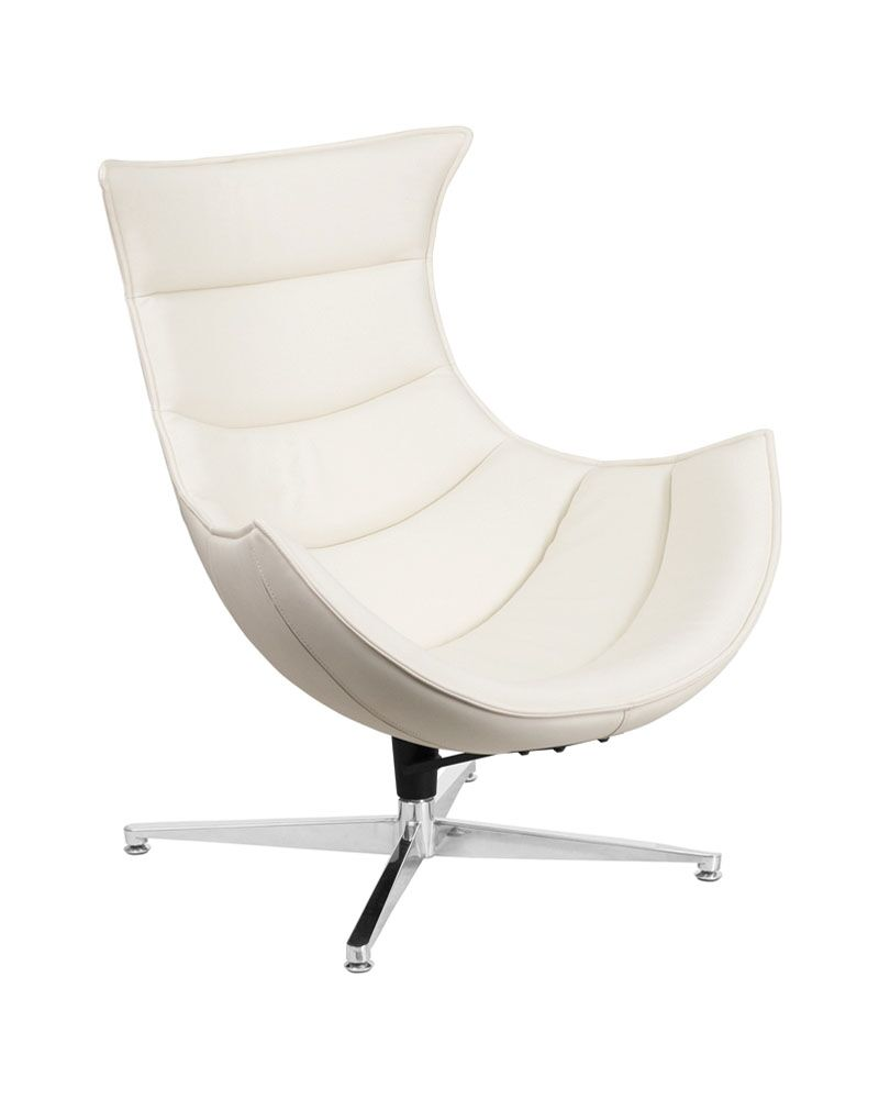 Swivel Lounge Chair Upholstery: White