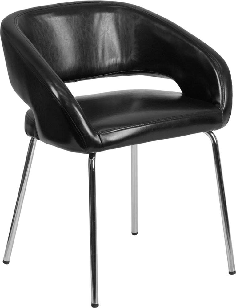 Leather Lounge Chair Finish: Black