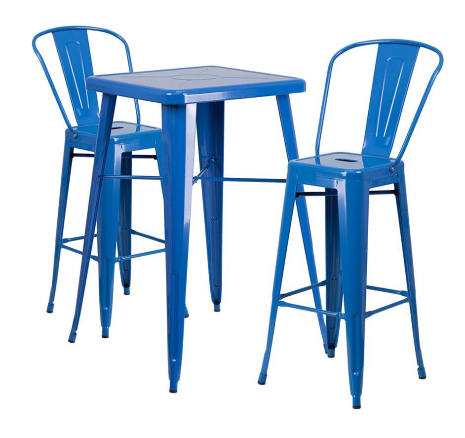 Jesse 3 Piece Bar Height Dining Set Color: Blue