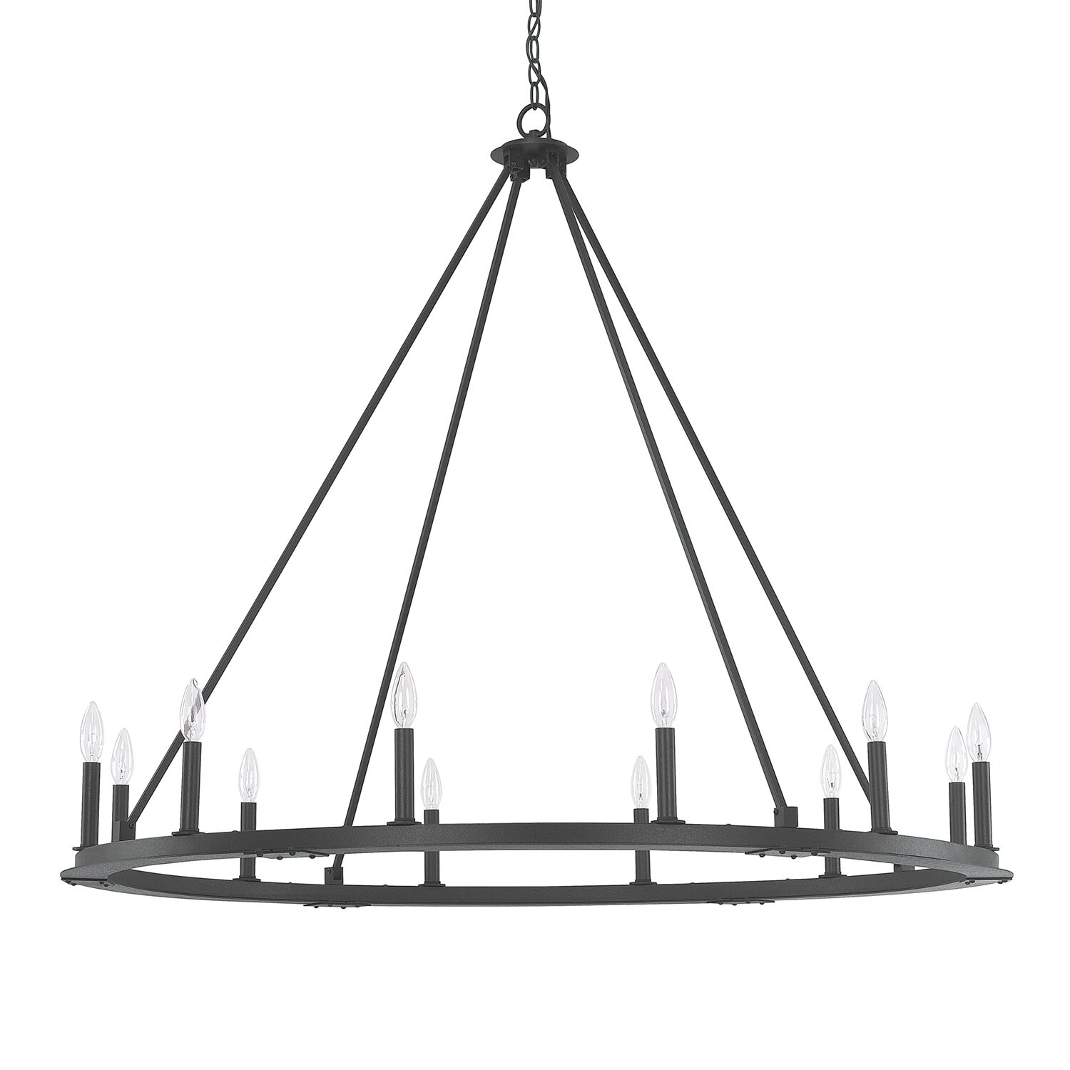 Shayla 12-Light Wagon Wheel Chandelier