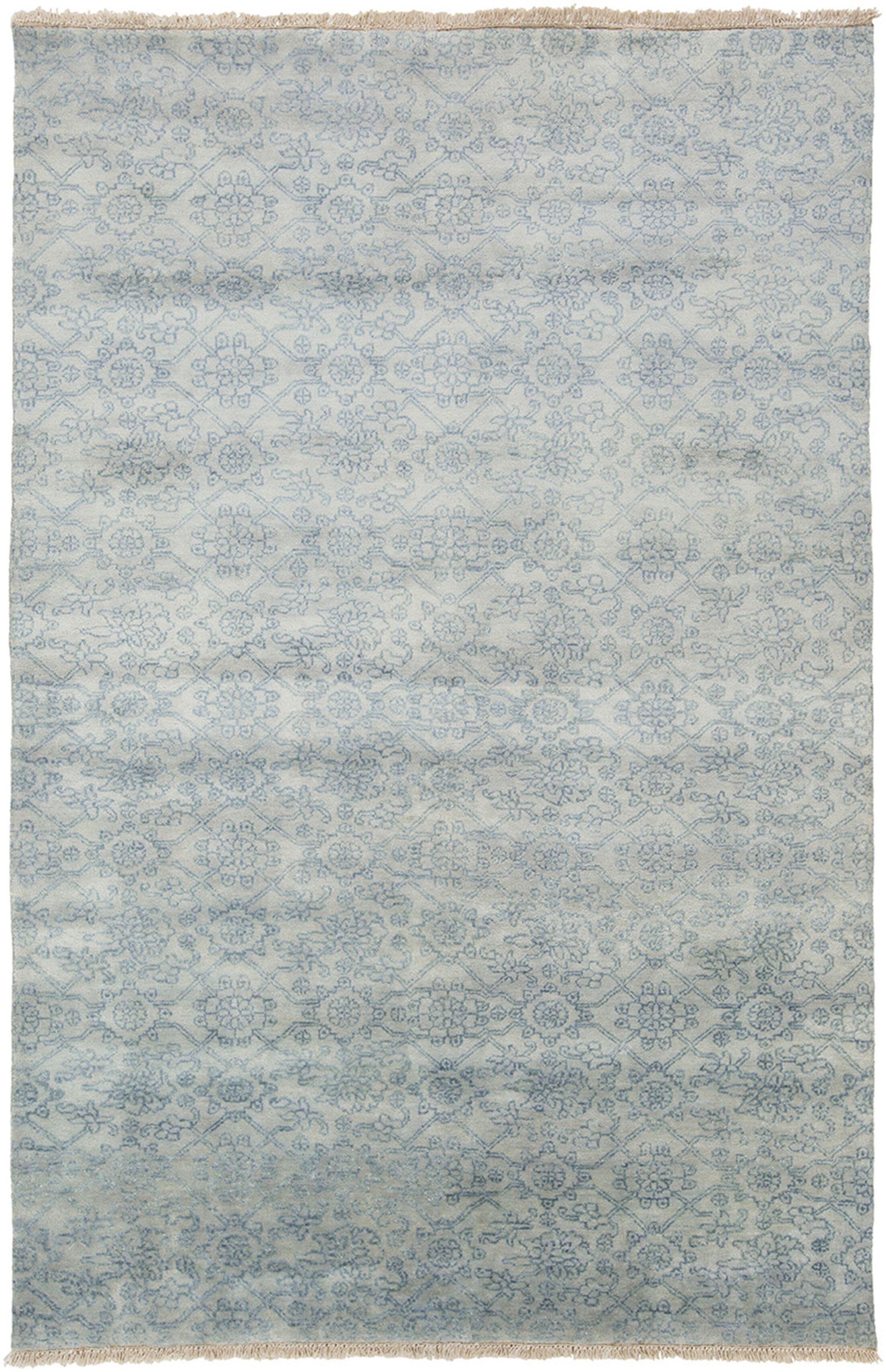 Harrisville Slate/Light Gray Area Rug Rug Size: Rectangle 5'6