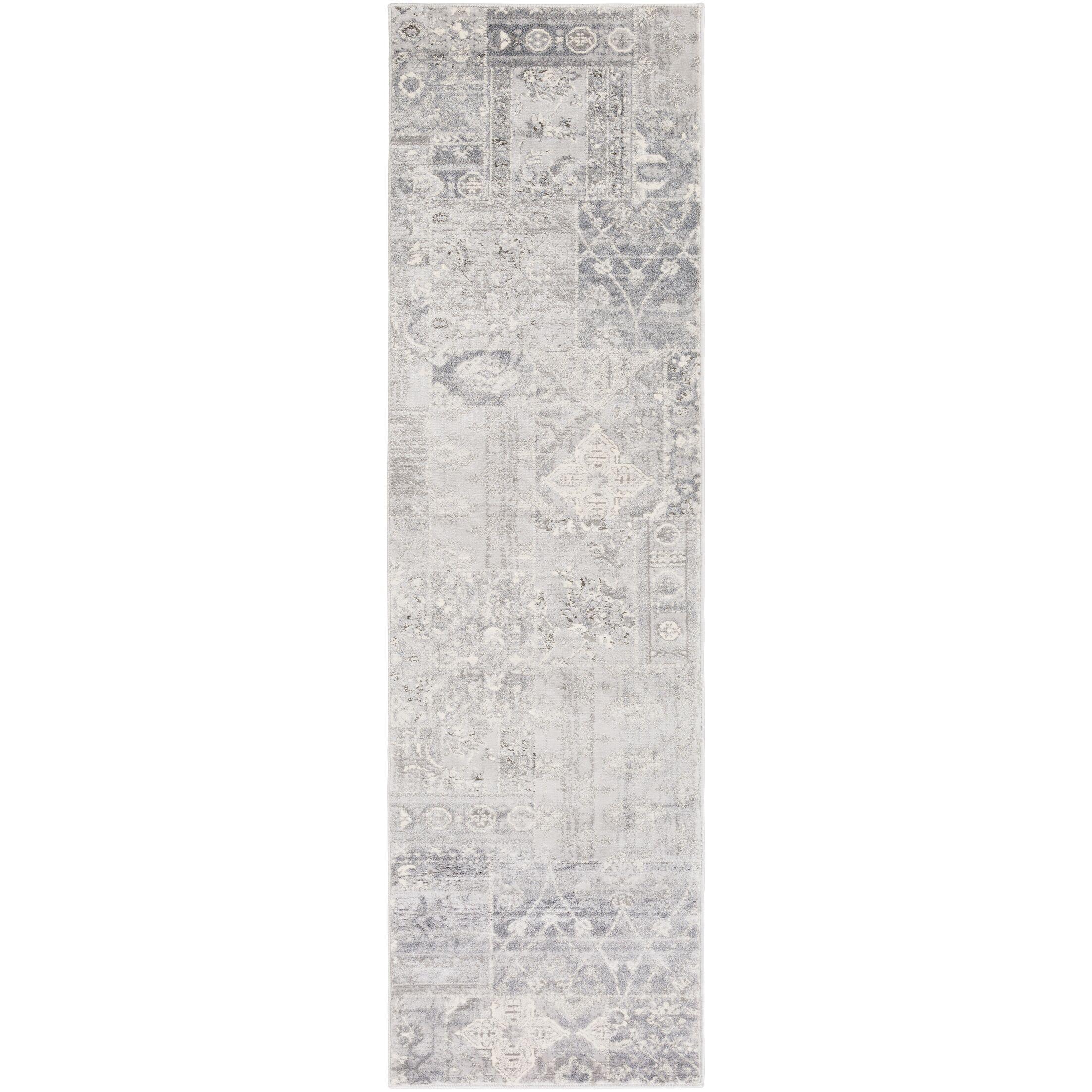 Hatboro Metallic/Gray Area Rug Rug Size: Runner 2'3
