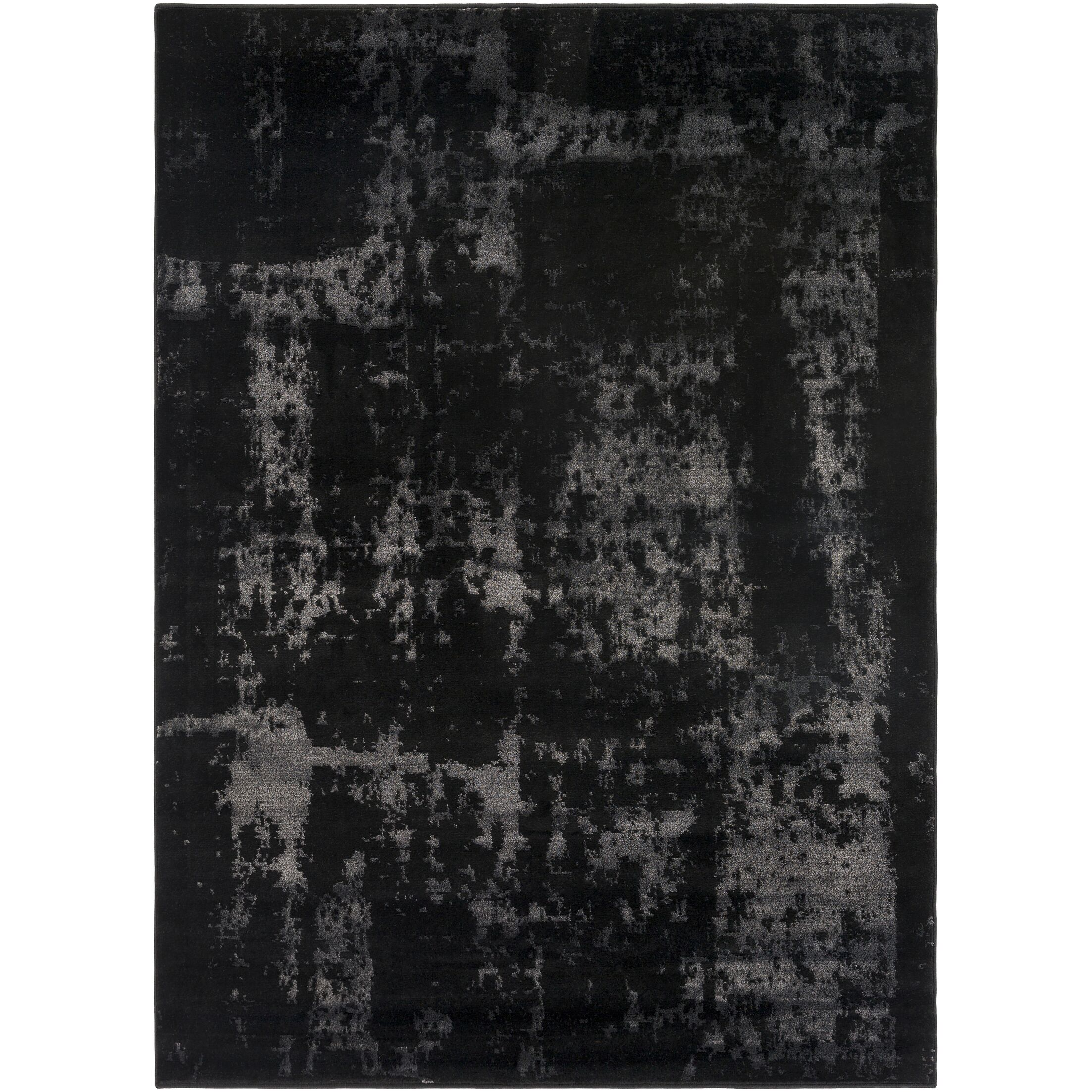 Hatboro Black/Neutral Area Rug Rug Size: Rectangle 5'3