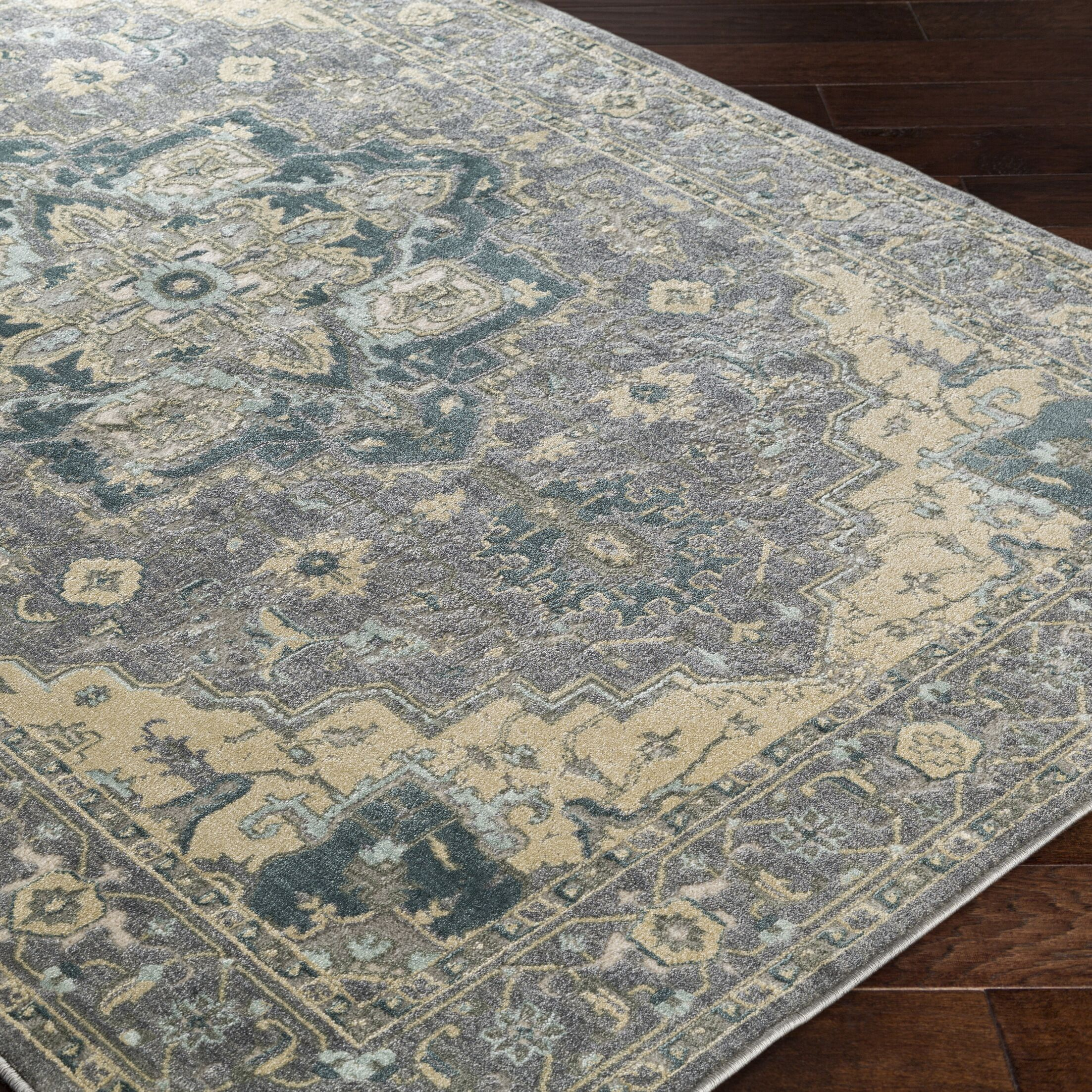 Sommerfield Gray Area Rug Rug Size: Rectangle 5'3