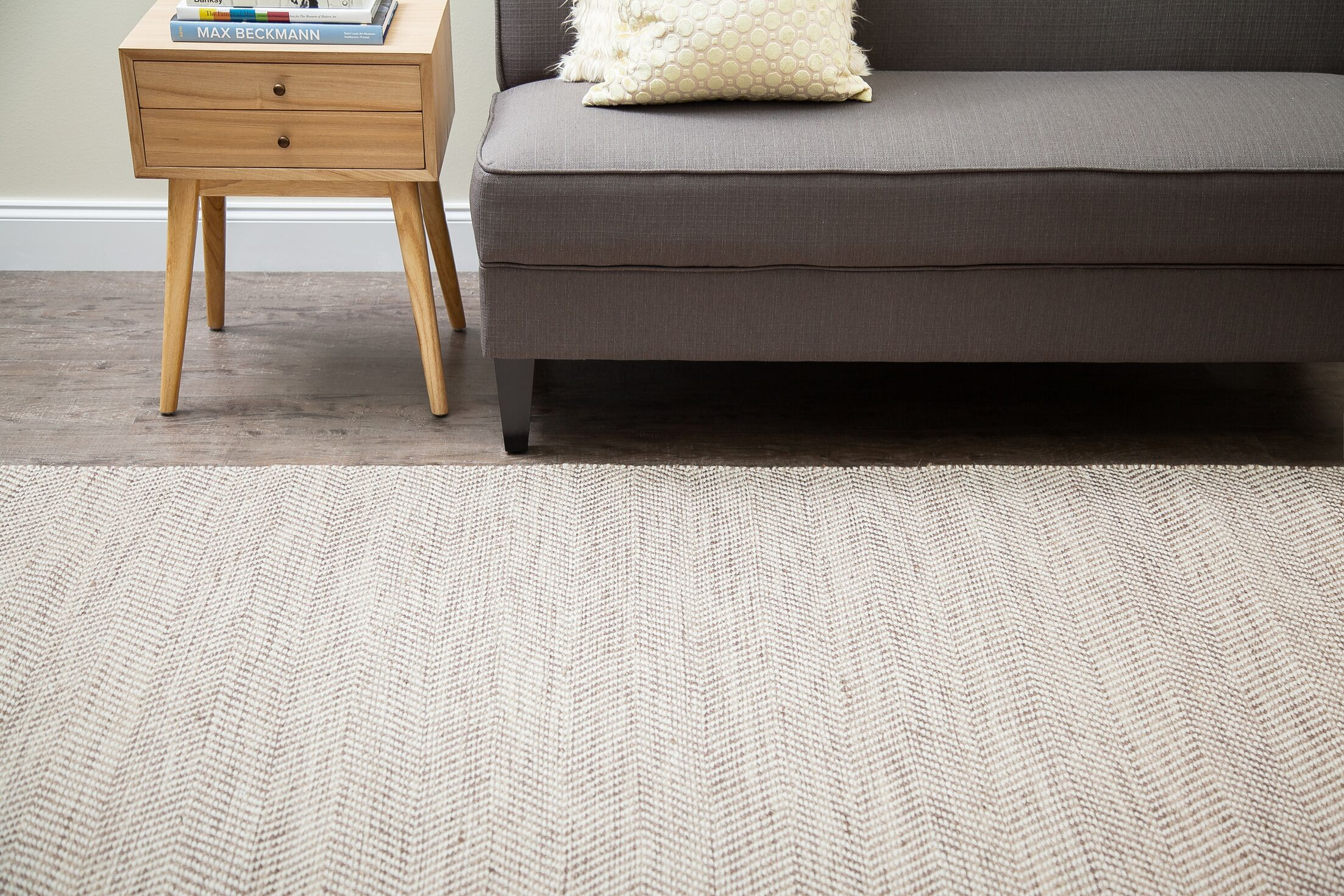 Clarington Hand-Woven Tan/Ivory Area Rug Rug Size: Runner 2'6