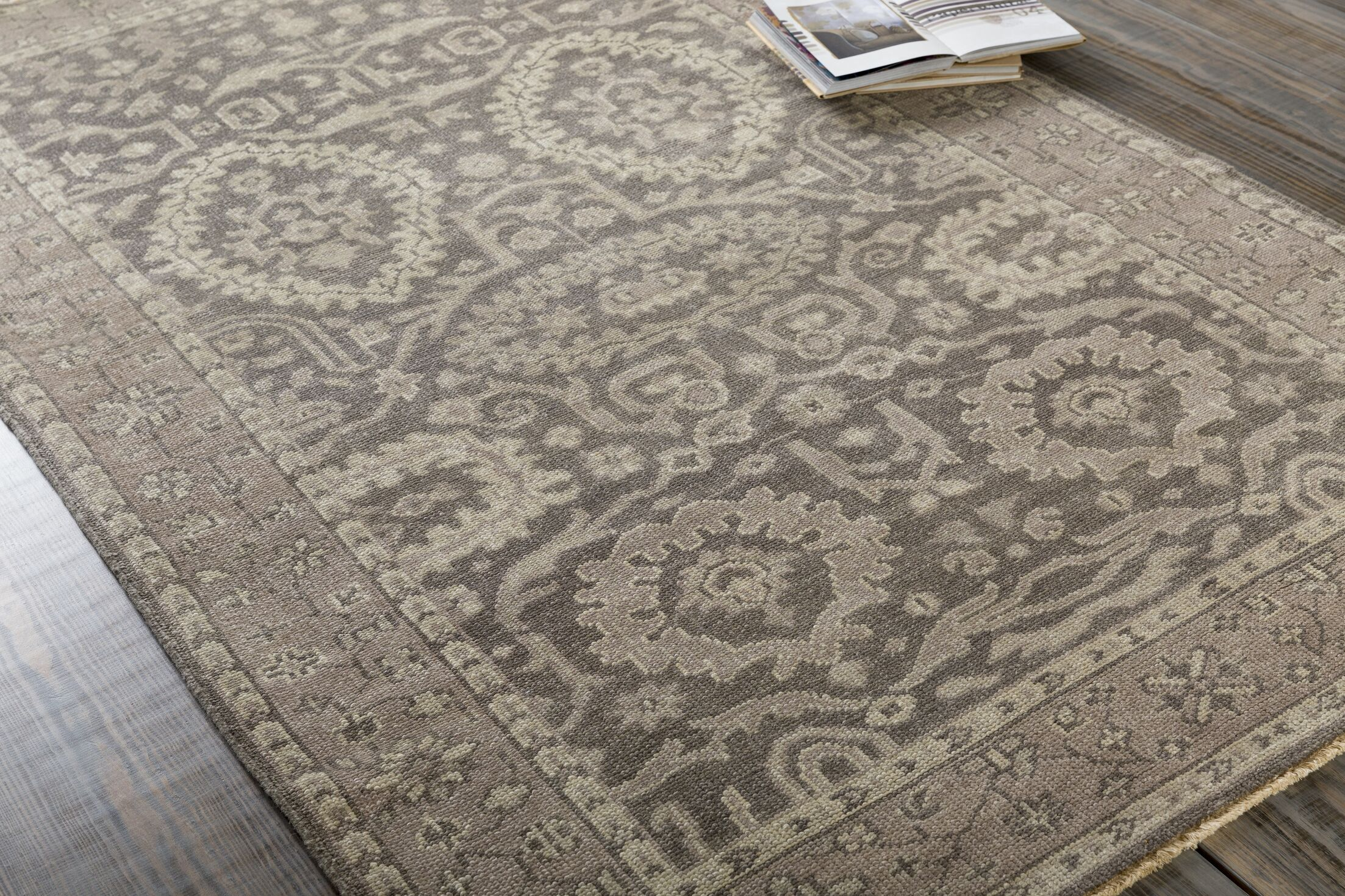 Karlee Beige Area Rug Rug Size: Rectangle 5'6