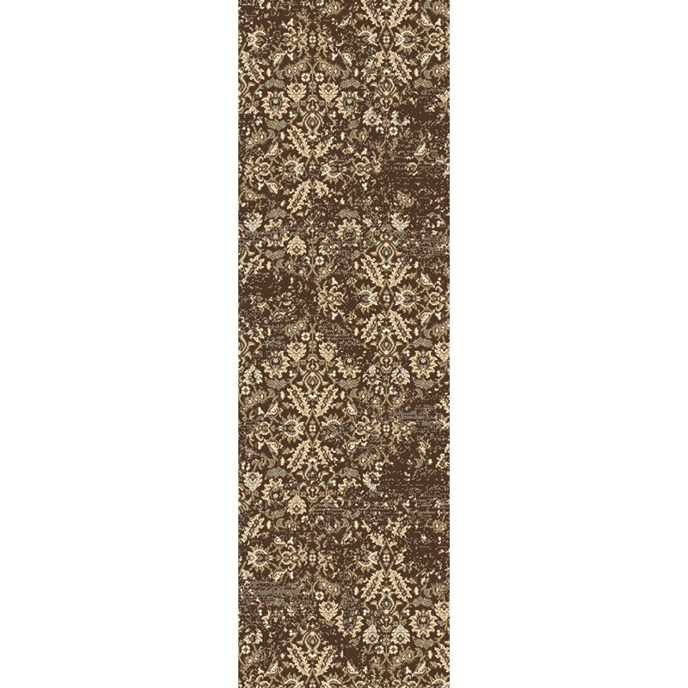 Kulpmont Floral and Plant Dark Brown Area Rug Rug Size: Rectangle 7'9