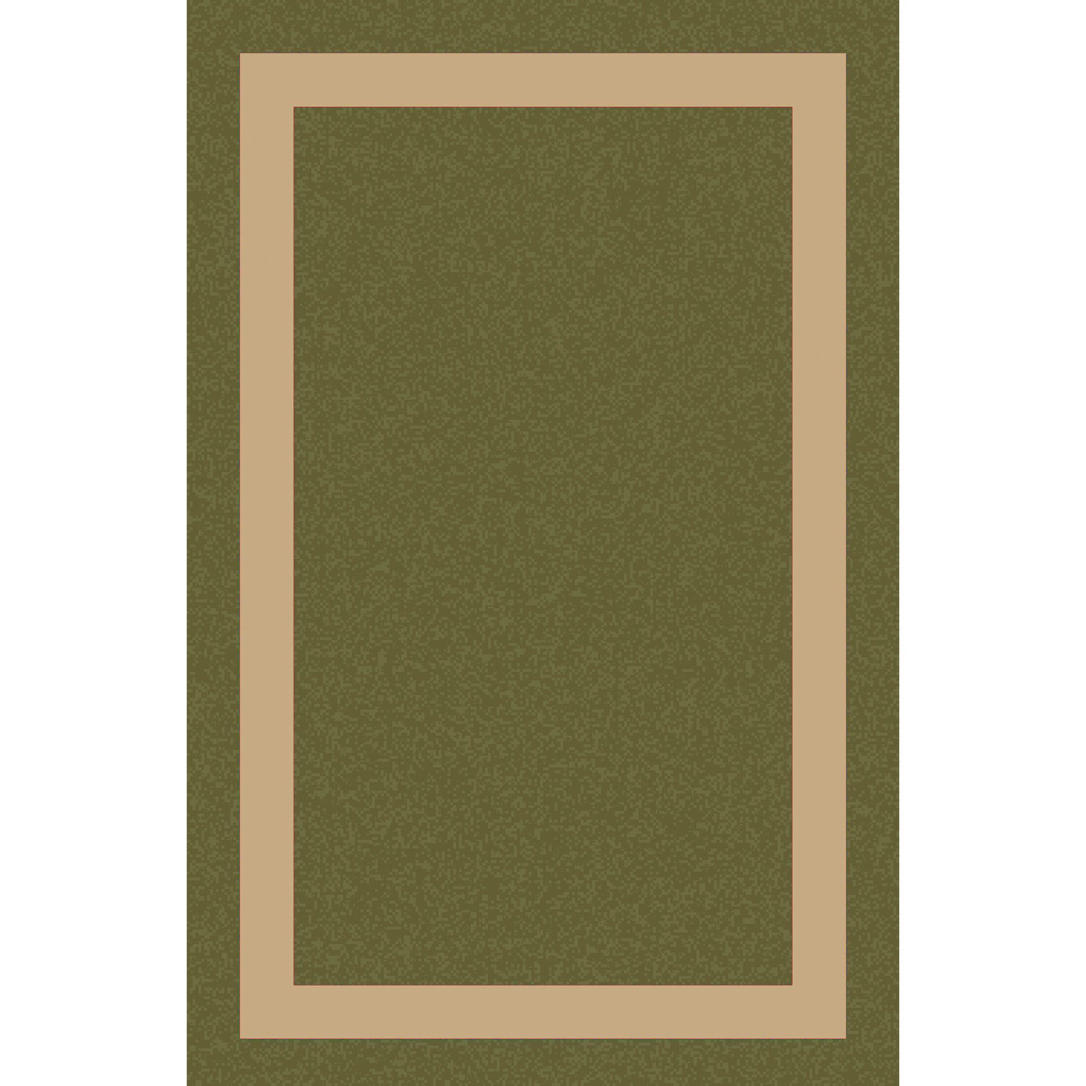 Koppel Hand-Woven Grass Green/Khaki Area Rug Rug Size: Round 8'
