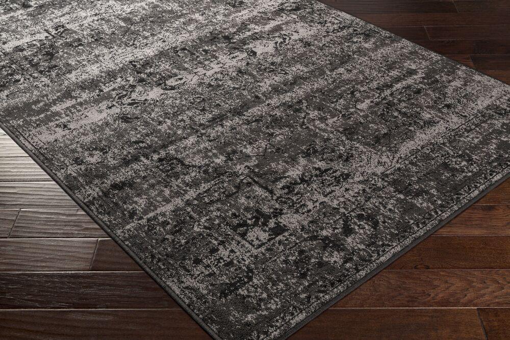 Kulpmont Oriental Black/Light Gray Area Rug Rug Size: Rectangle 8'10
