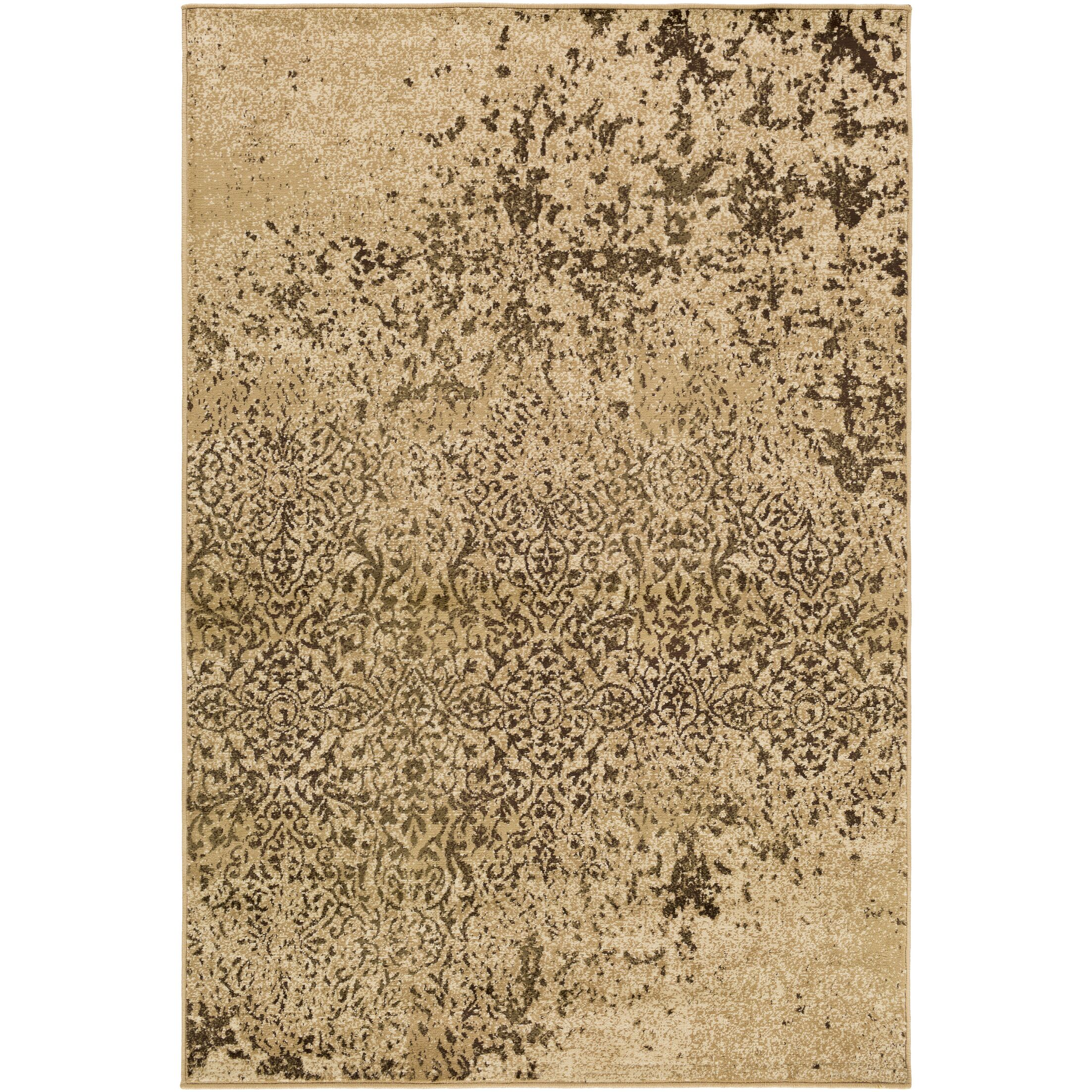 Kulpmont Abstract Tan Area Rug Rug Size: Rectangle 7'9