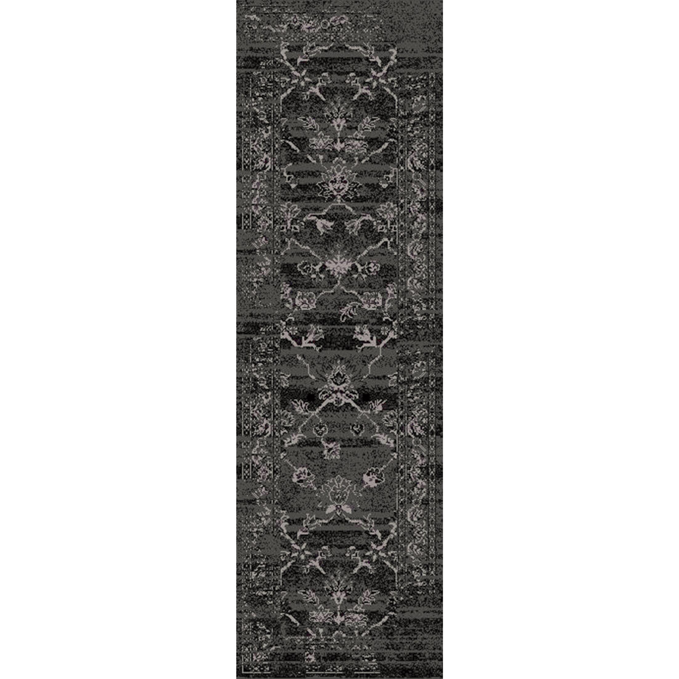 Kulpmont Black/Light Gray Area Rug Rug Size: Rectangle 8'10