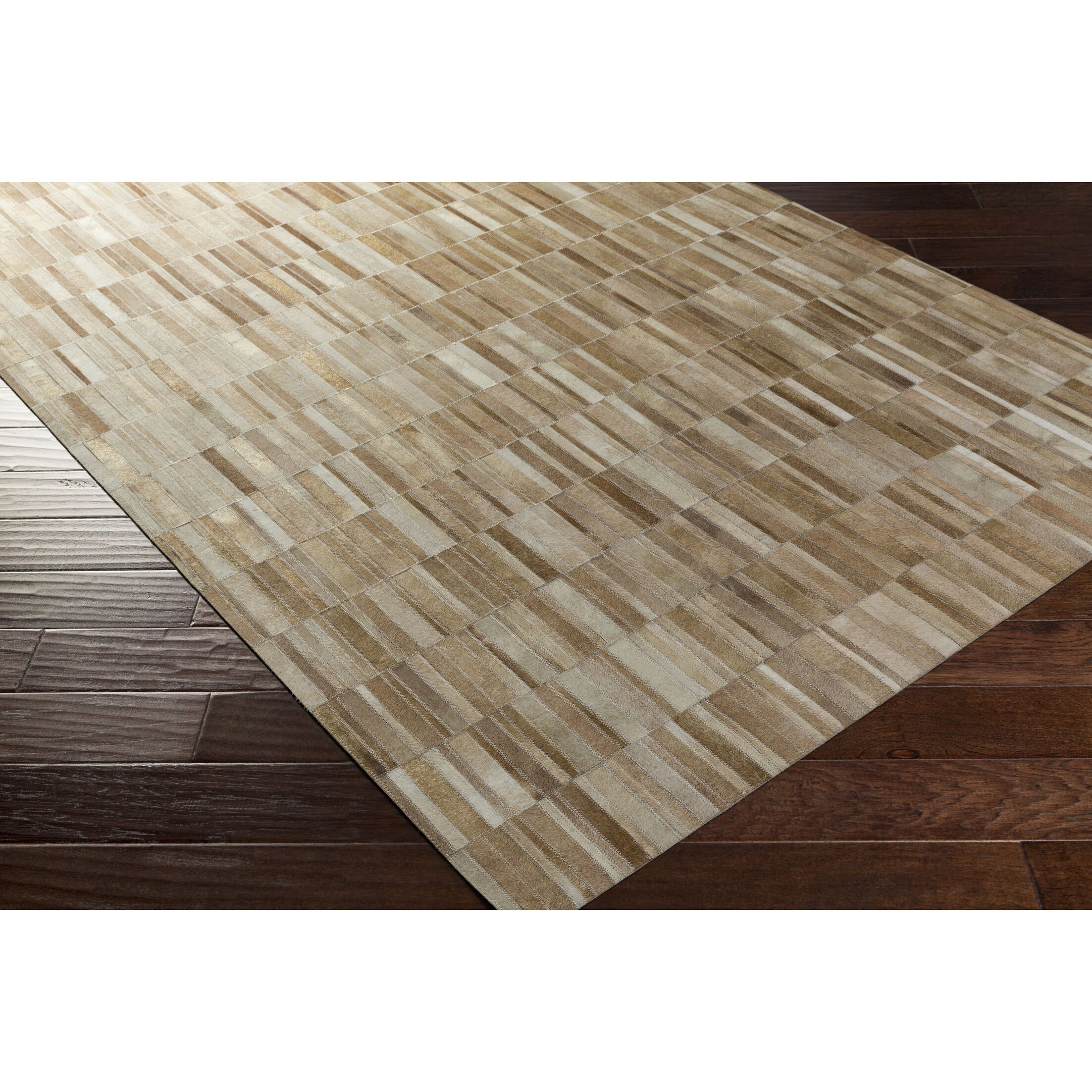 Pomeroy Hand-Crafted Brown/Neutral Area Rug Rug Size: Rectangle 8' x 10'