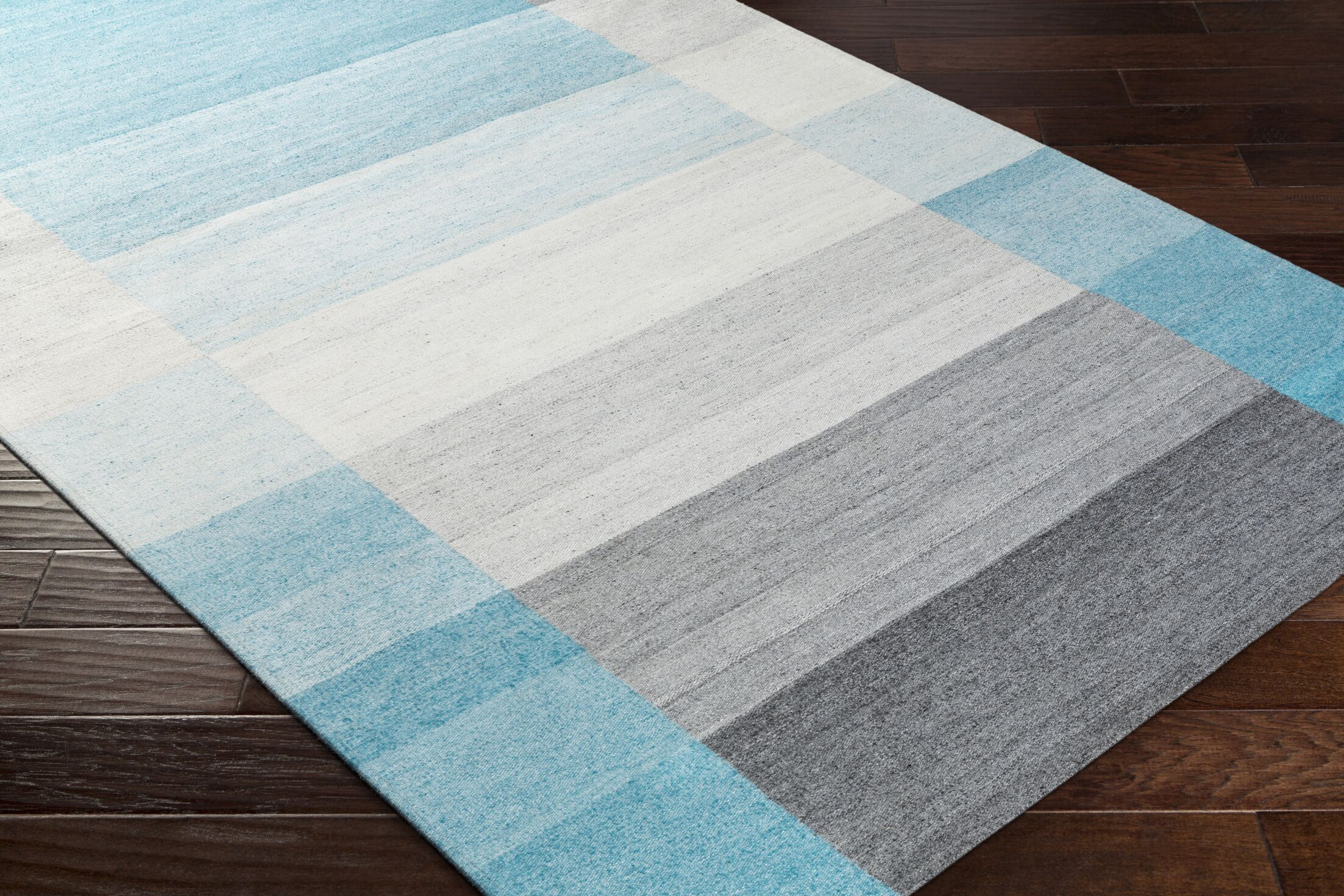 Dree Hand-Woven Gray/Blue Area Rug Rug Size: Rectangle 8' x 10'
