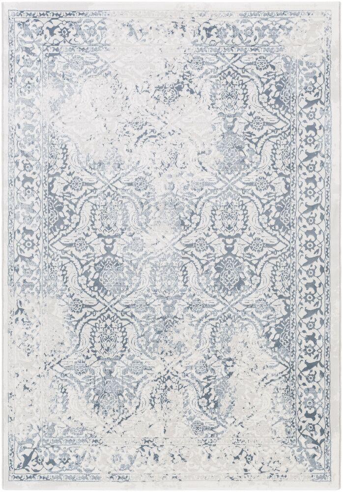 Mishti Oriental White/Gray Area Rug Rug Size: Rectangle 3'11
