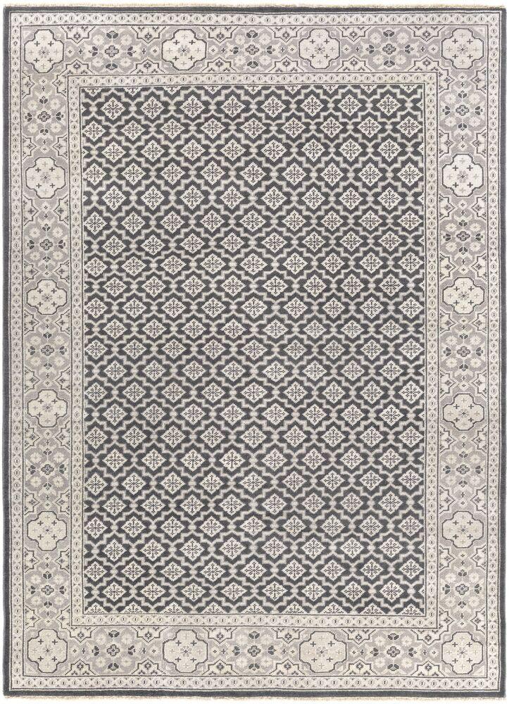 Karlee Charcoal/Tan Area Rug Rug Size: Rectangle 5'6