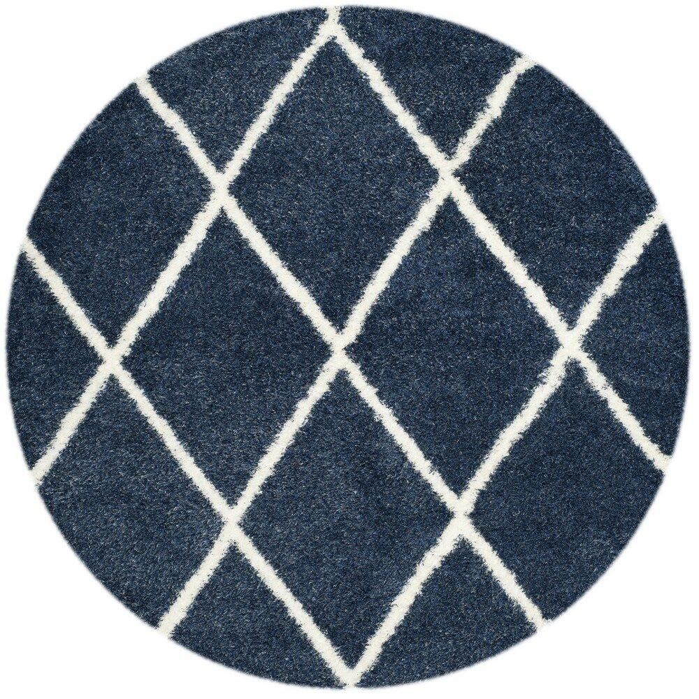 Macungie Blue Indoor Area Rug Rug Size: Round 6'7