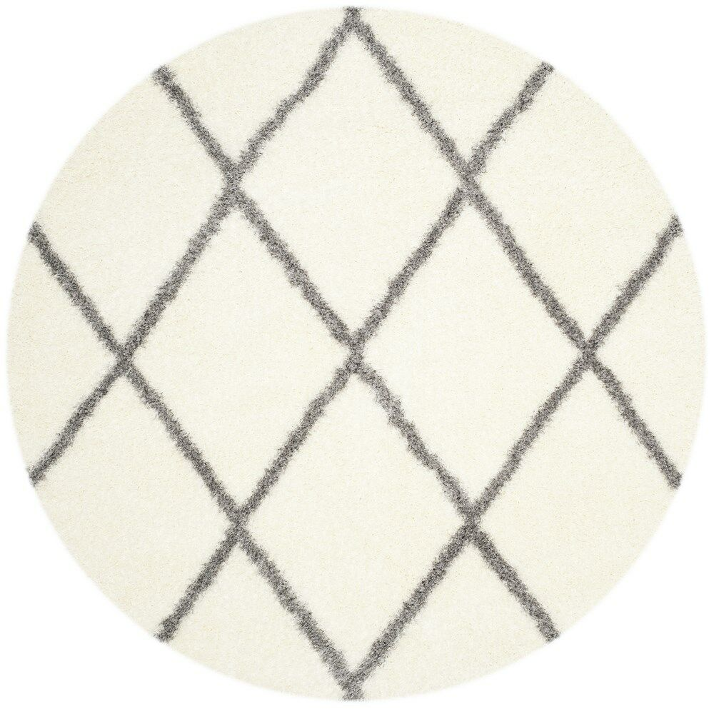 Macungie Gray/Beige Area Rug Rug Size: Round 6'7