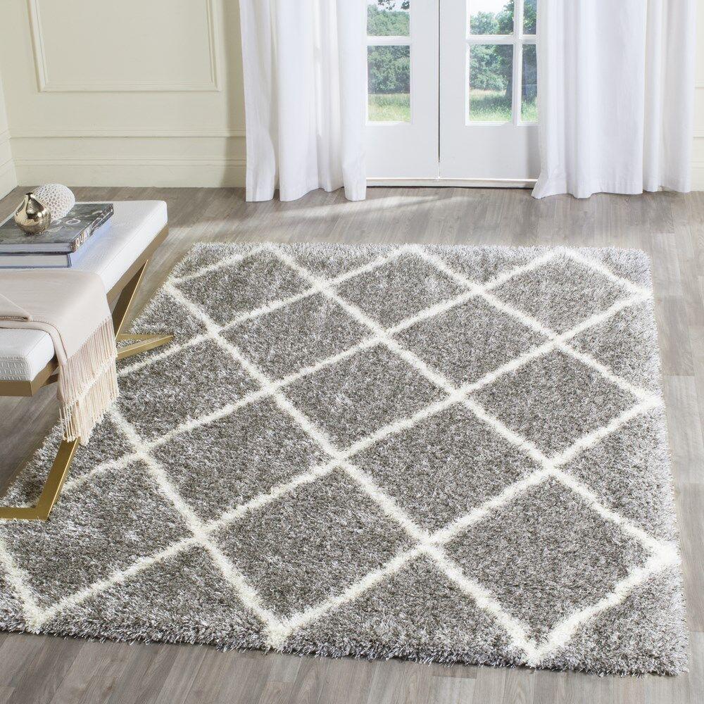 Macungie Trellis Gray Indoor Area Rug Rug Size: Rectangle 8'6