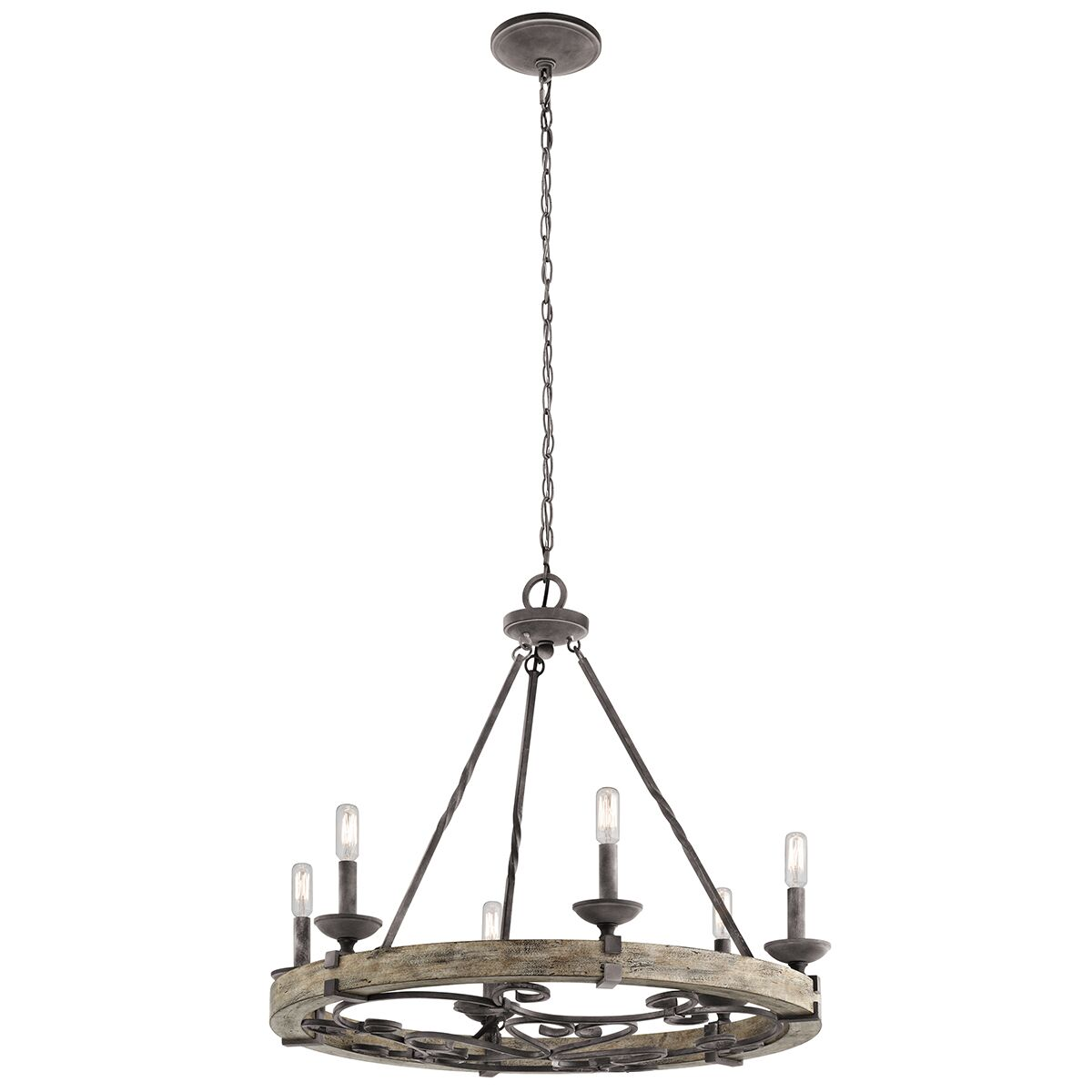 Yasmin 6-Light Wagon Wheel Chandelier