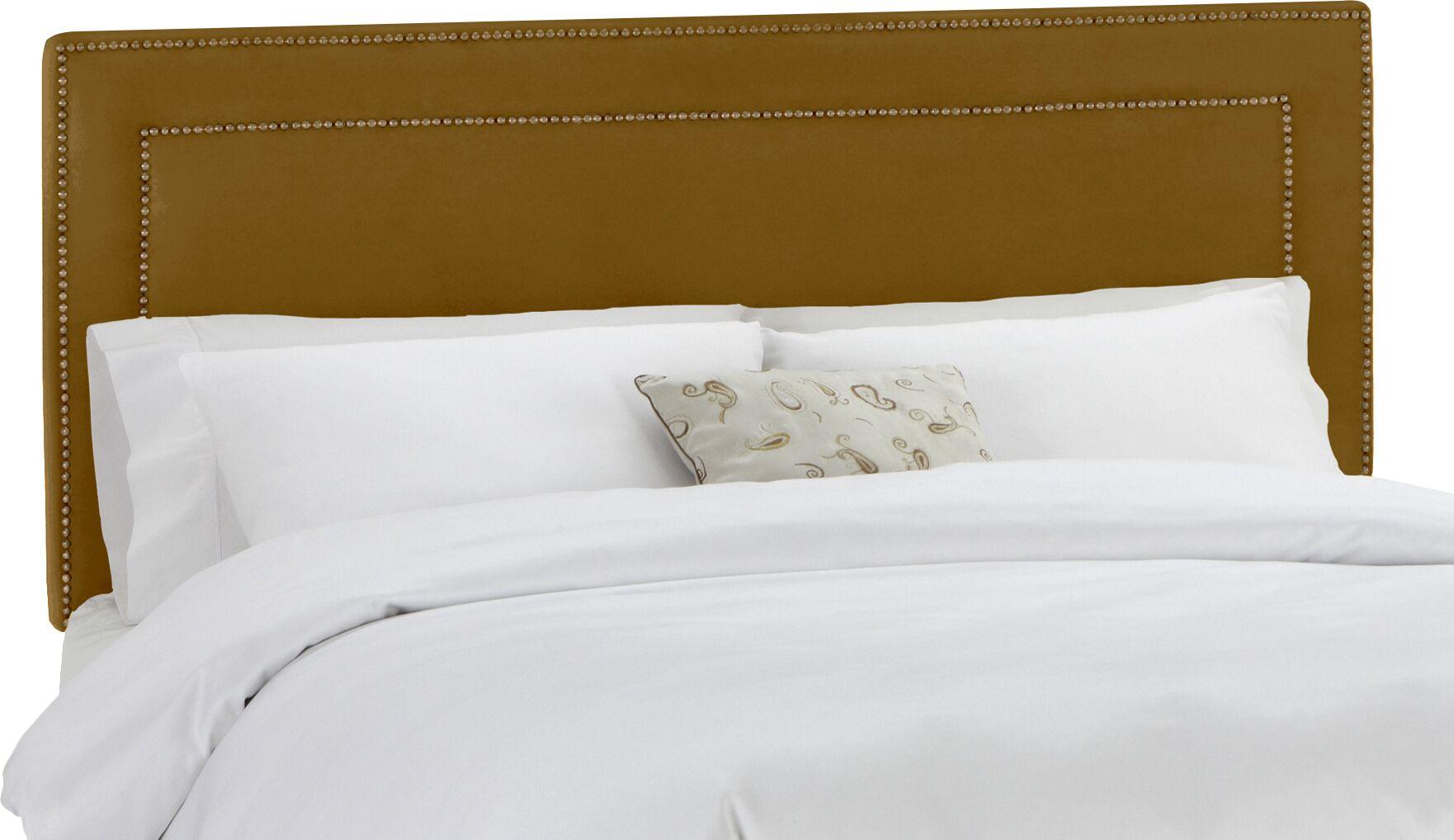 Ibin Upholstered Panel Headboard Size: Full, Upholstery: Mystere Moccasin