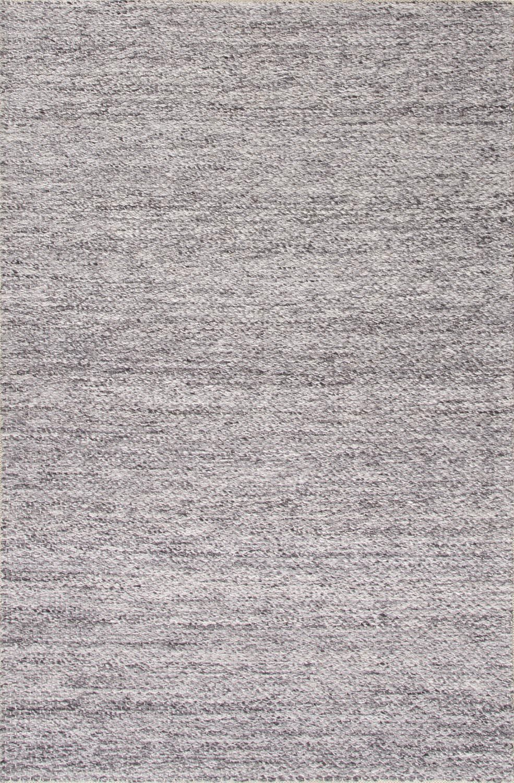 Erath Hand-Woven Wool Gray Area Rug Rug Size: Rectangle 5' x 8'